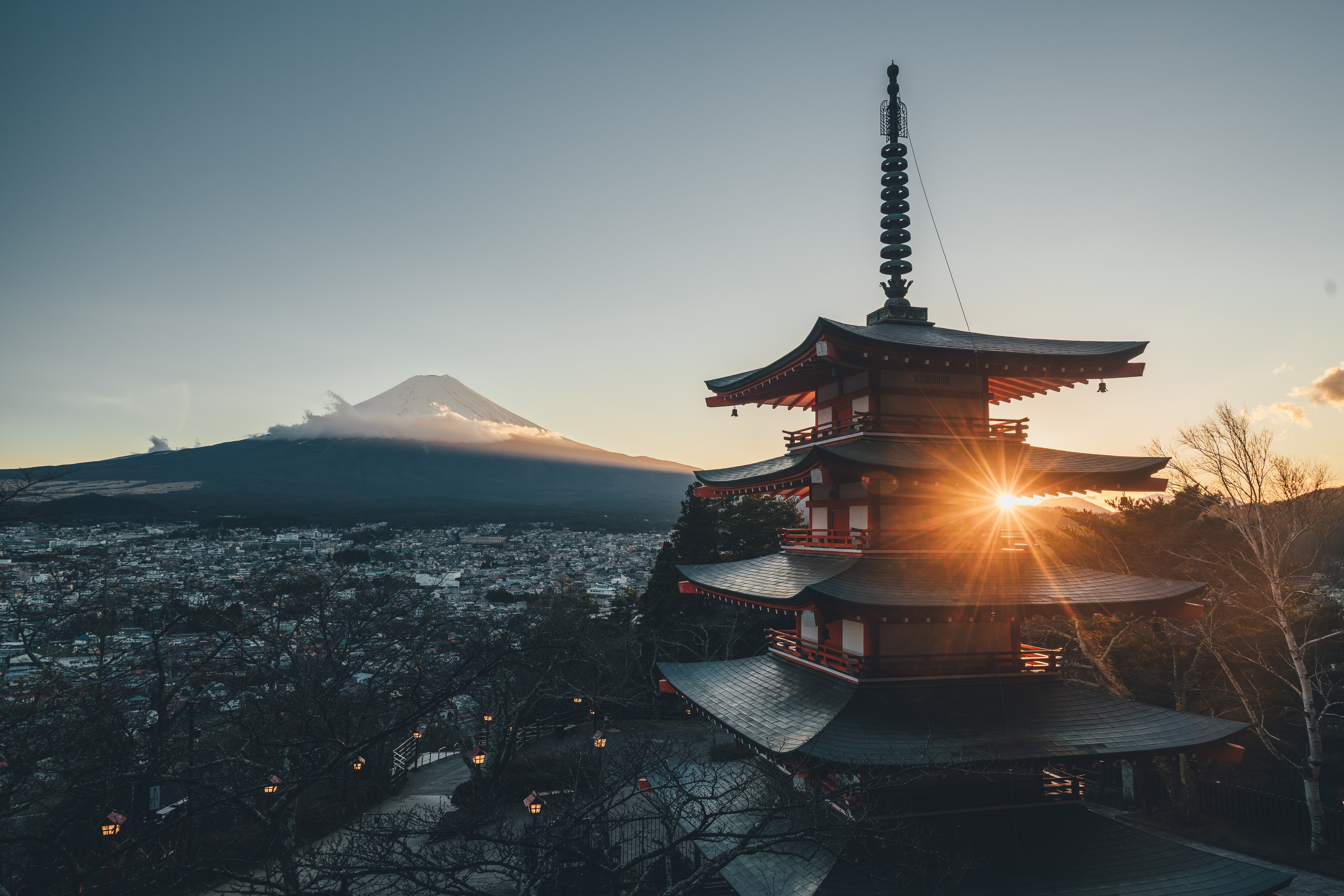 115588 download wallpaper Japan, Cities, Architecture, Pagoda, Sunlight screensavers and pictures for free