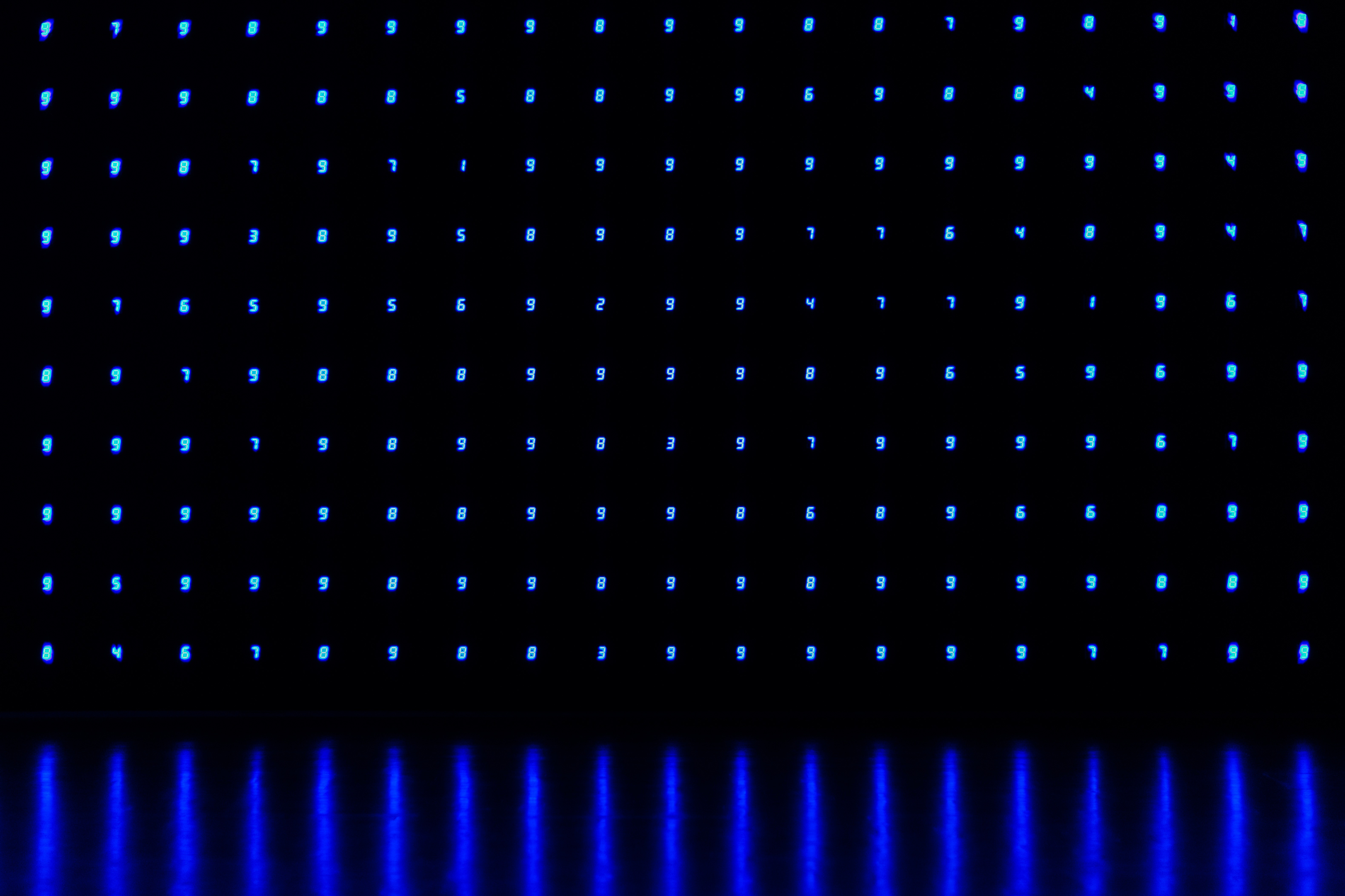 109178壁紙のダウンロードテクスチャ, テクスチャー, 数字, 番号, ネオン, 青い, 闇, 暗い-スクリーンセーバーと写真を無料で
