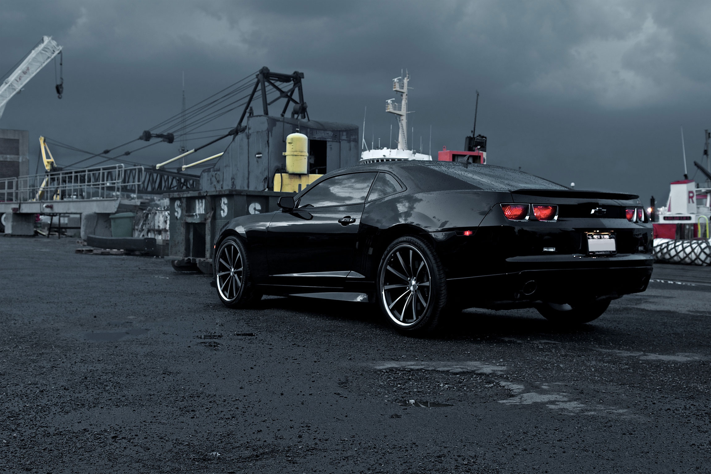 80928 скачать обои Тачки (Cars), Шевроле (Chevrolet), Camaro, Черный, Автомобили, Машины - заставки и картинки бесплатно