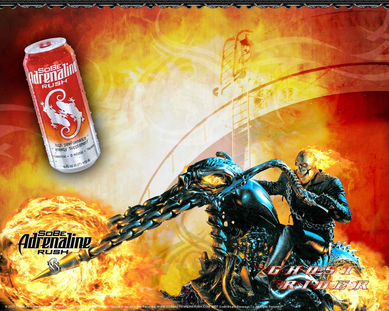 12813 Hintergrundbild herunterladen Kino, Feuer, Ghost Rider - Bildschirmschoner und Bilder kostenlos
