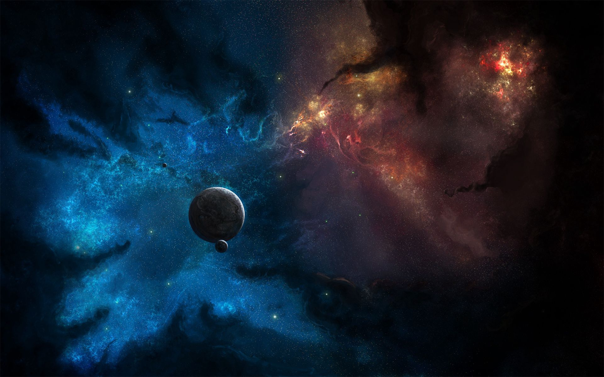 143187 Hintergrundbild herunterladen Planets, Universum, Sterne, Blitz, Ausbrüche - Bildschirmschoner und Bilder kostenlos