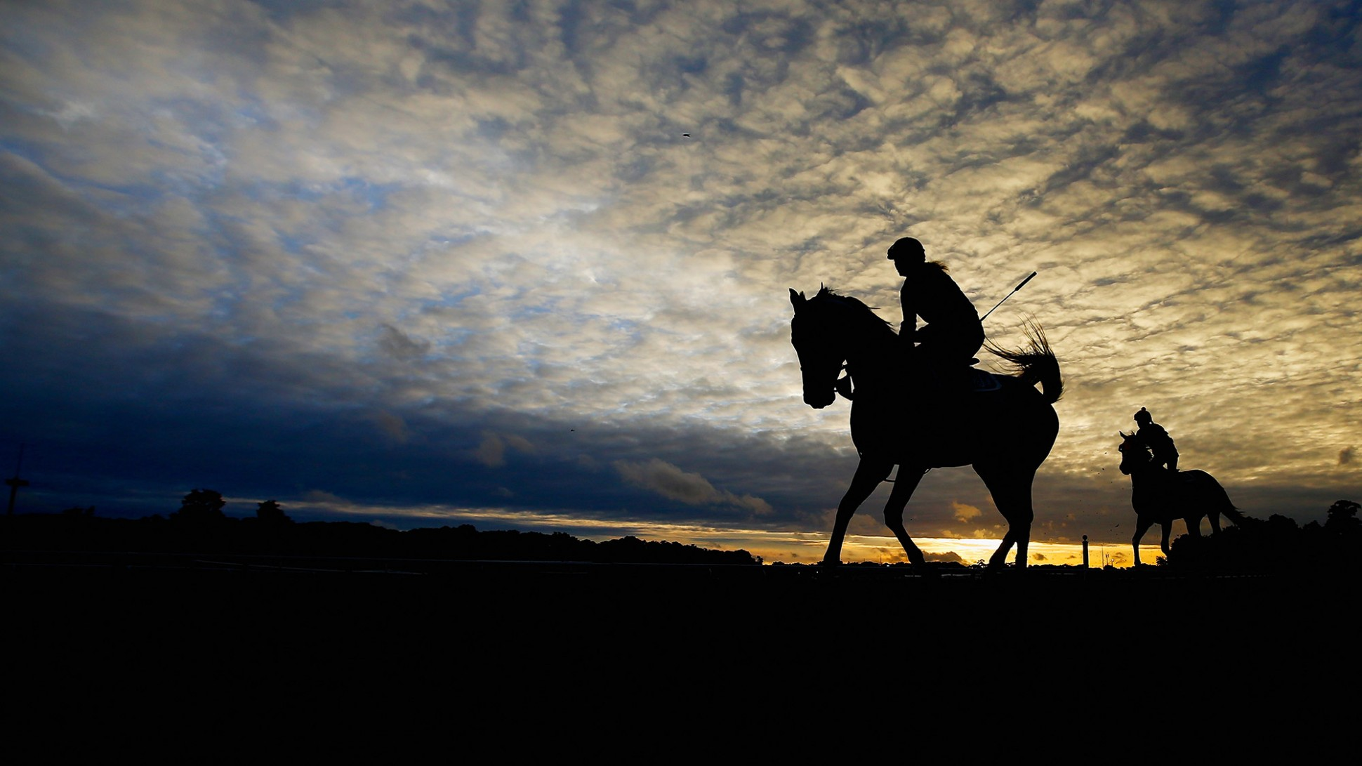 99574 download wallpaper Sports, Belmont Stakes, 2015, Horse Racing, Horses, Silhouette, Sky screensavers and pictures for free