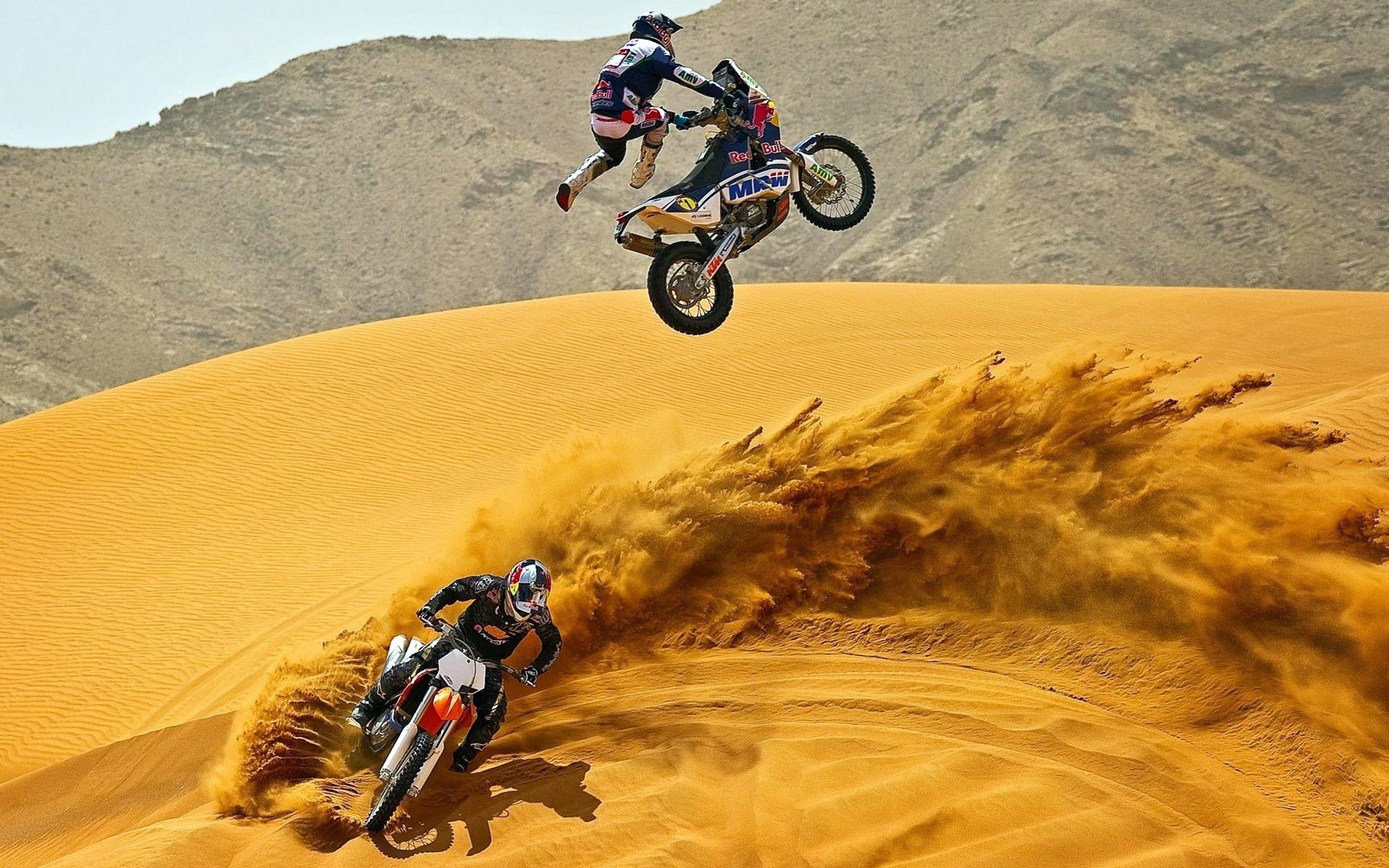 22178 descargar fondo de pantalla Deportes, Transporte, Personas, Motocicletas, Desierto, Motocross: protectores de pantalla e imágenes gratis