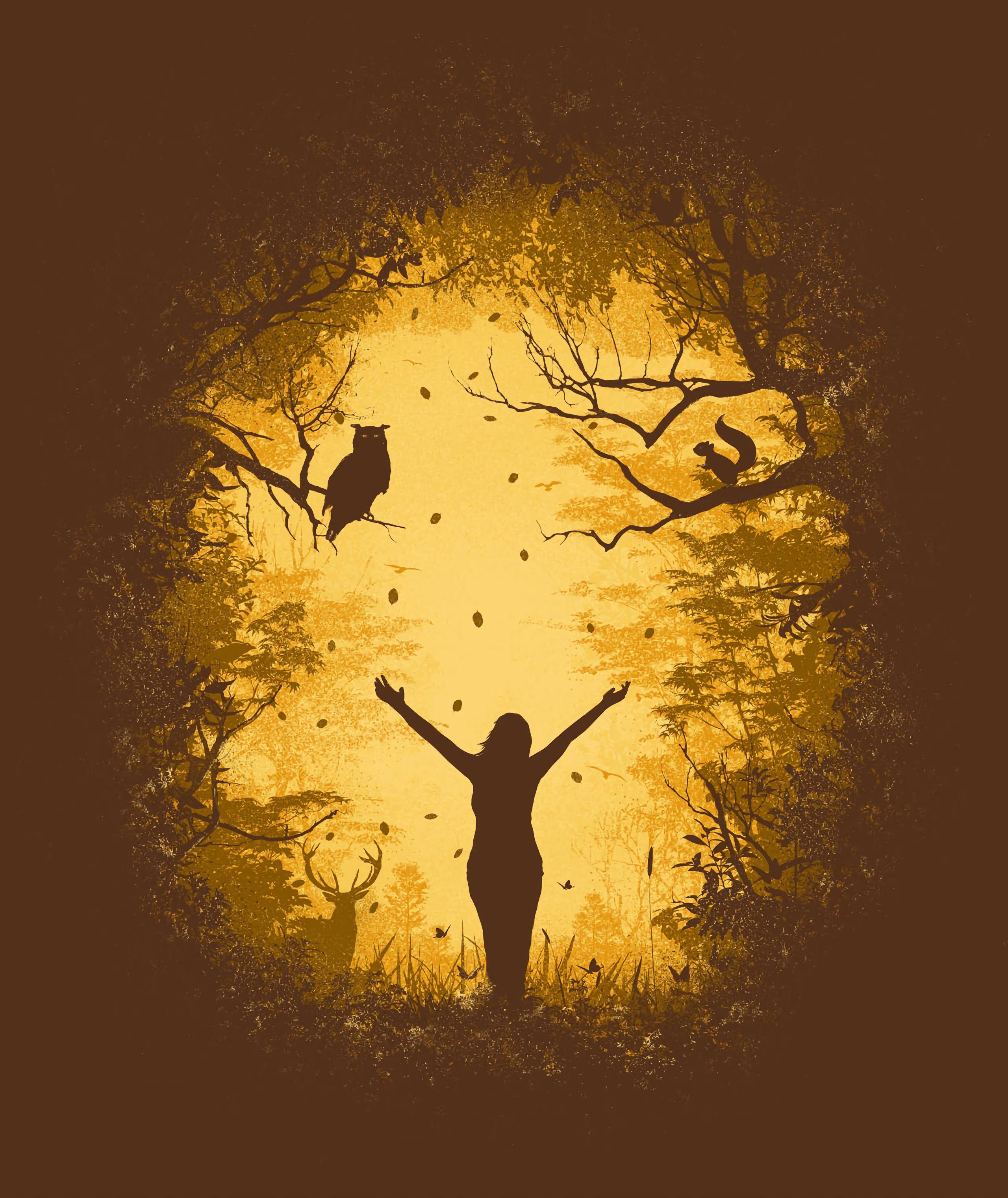 155884 Заставки и Обои Вектор на телефон. Скачать Вектор, Силуэты, Животные, Арт, Дикая Природа, Свобода картинки бесплатно
