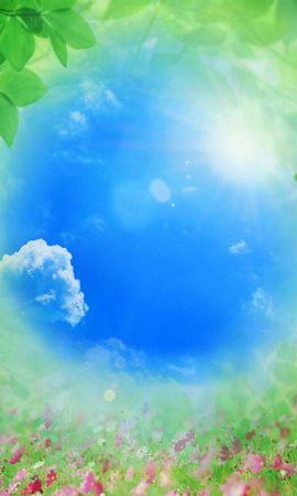 2715 скачать обои Растения, Пейзаж, Небо, Солнце, Рисунки - заставки и картинки бесплатно