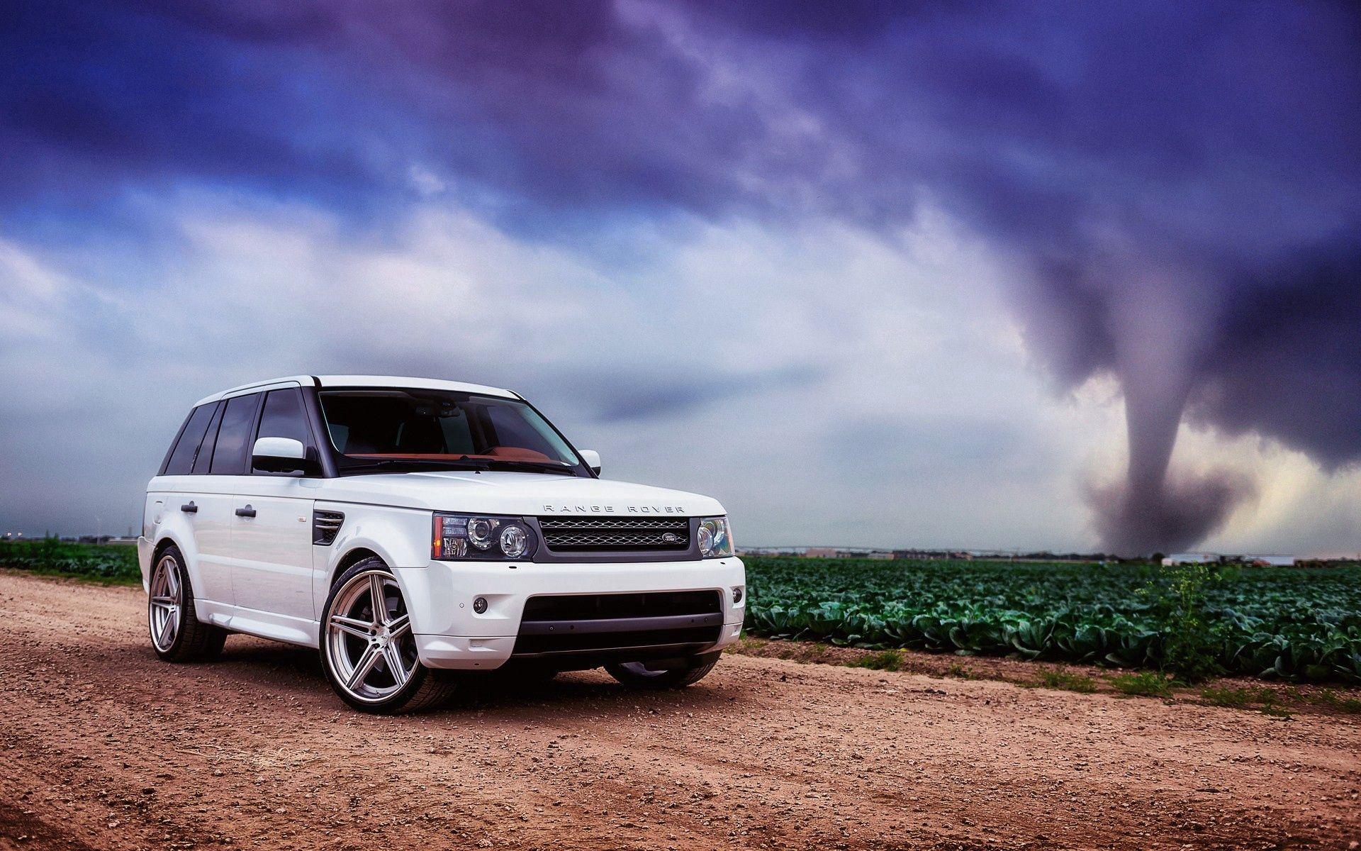 53948 descarga Blanco fondos de pantalla para tu teléfono gratis, Coches, Range Rover, Carro, Coche, Campo, Hierba, Cielo, Nubes Blanco imágenes y protectores de pantalla para tu teléfono
