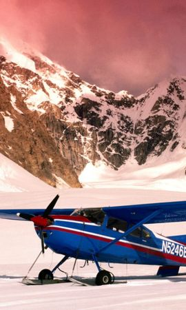 44232 télécharger le fond d'écran Transports, Paysage, Nature, Montagnes, Avions, Neige - économiseurs d'écran et images gratuitement