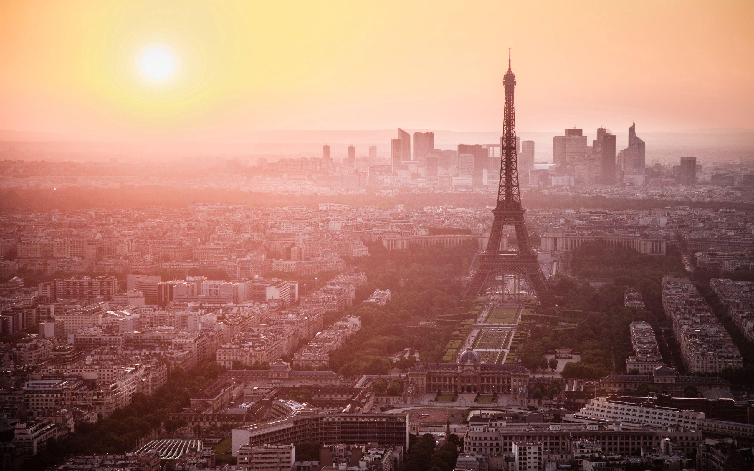 89334 télécharger le fond d'écran Ville, Paris, France, Aube, Matin, Vue, Brouillard, Villes, Tour Eiffel - économiseurs d'écran et images gratuitement