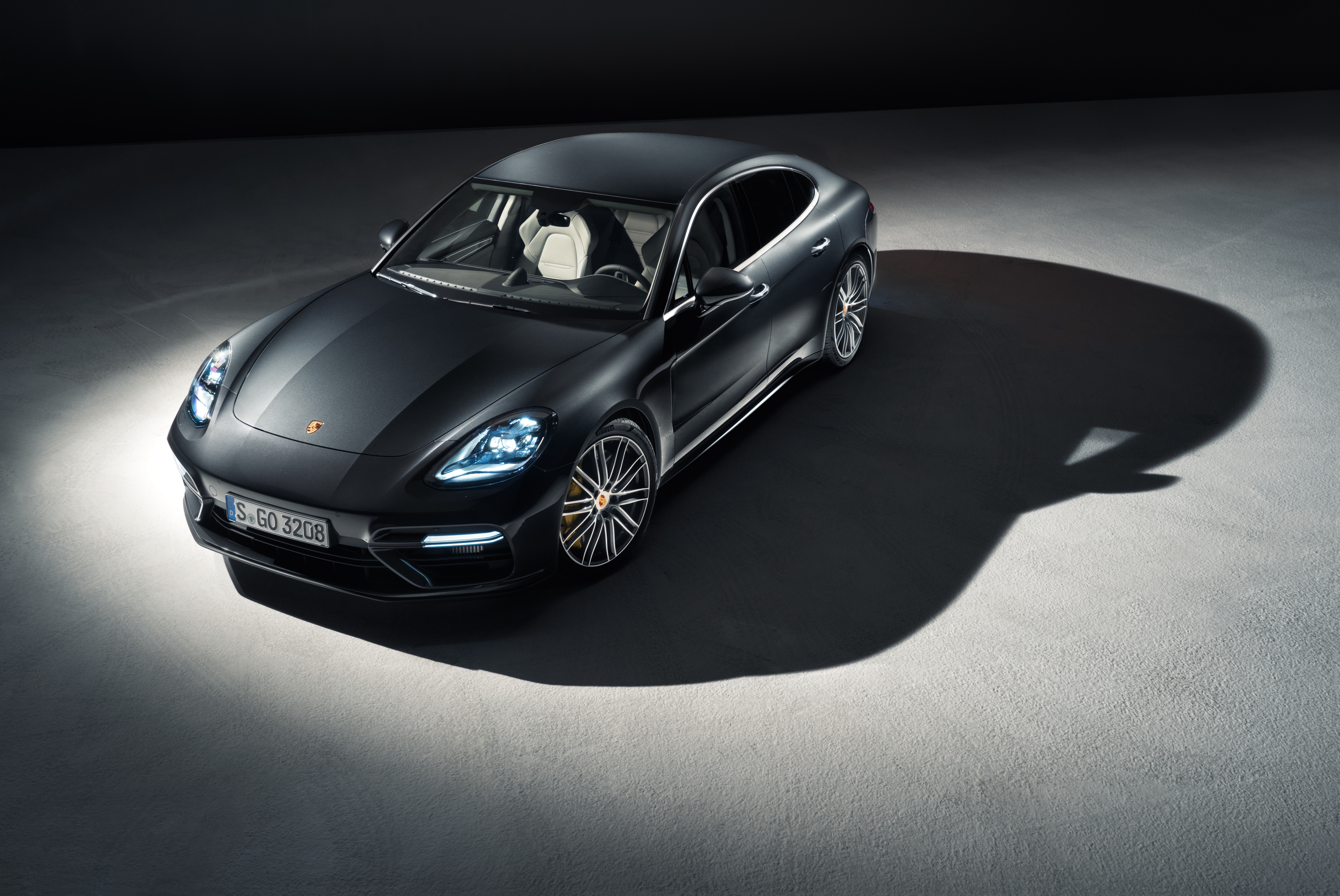 112900 Screensavers and Wallpapers Front View for phone. Download Panamera, Porsche, Cars, Front View, Shadow pictures for free