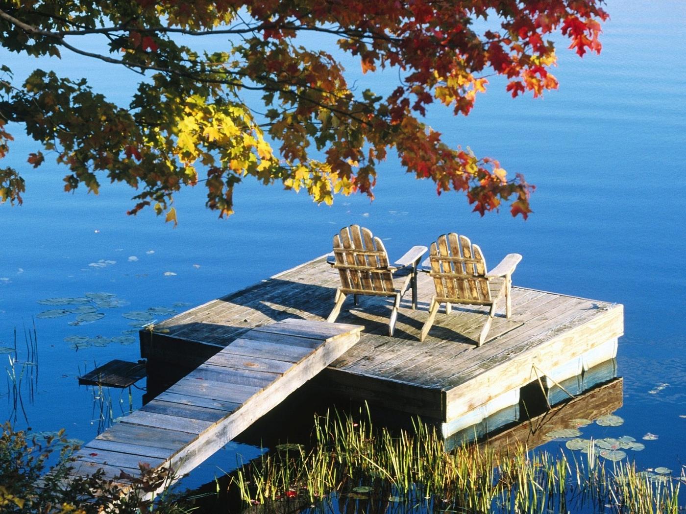 26329 скачать обои Пейзаж, Река, Осень, Листья - заставки и картинки бесплатно