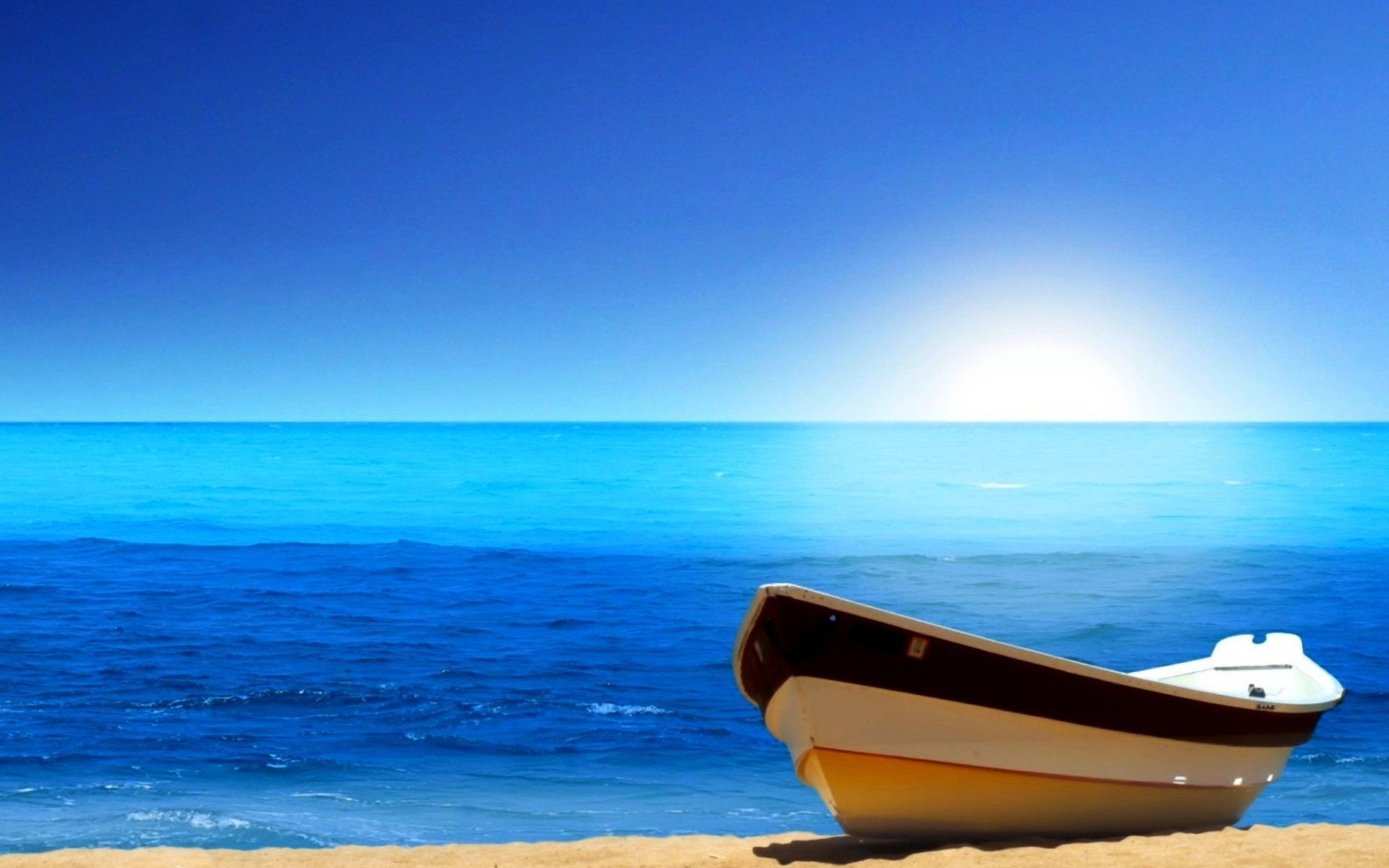 21933 download wallpaper Landscape, Sea, Beach, Boats screensavers and pictures for free