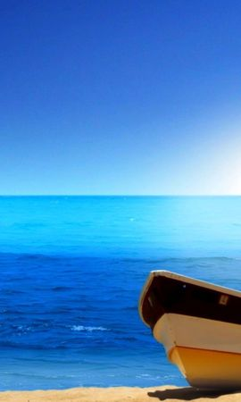 21933 скачать обои Пейзаж, Море, Пляж, Лодки - заставки и картинки бесплатно