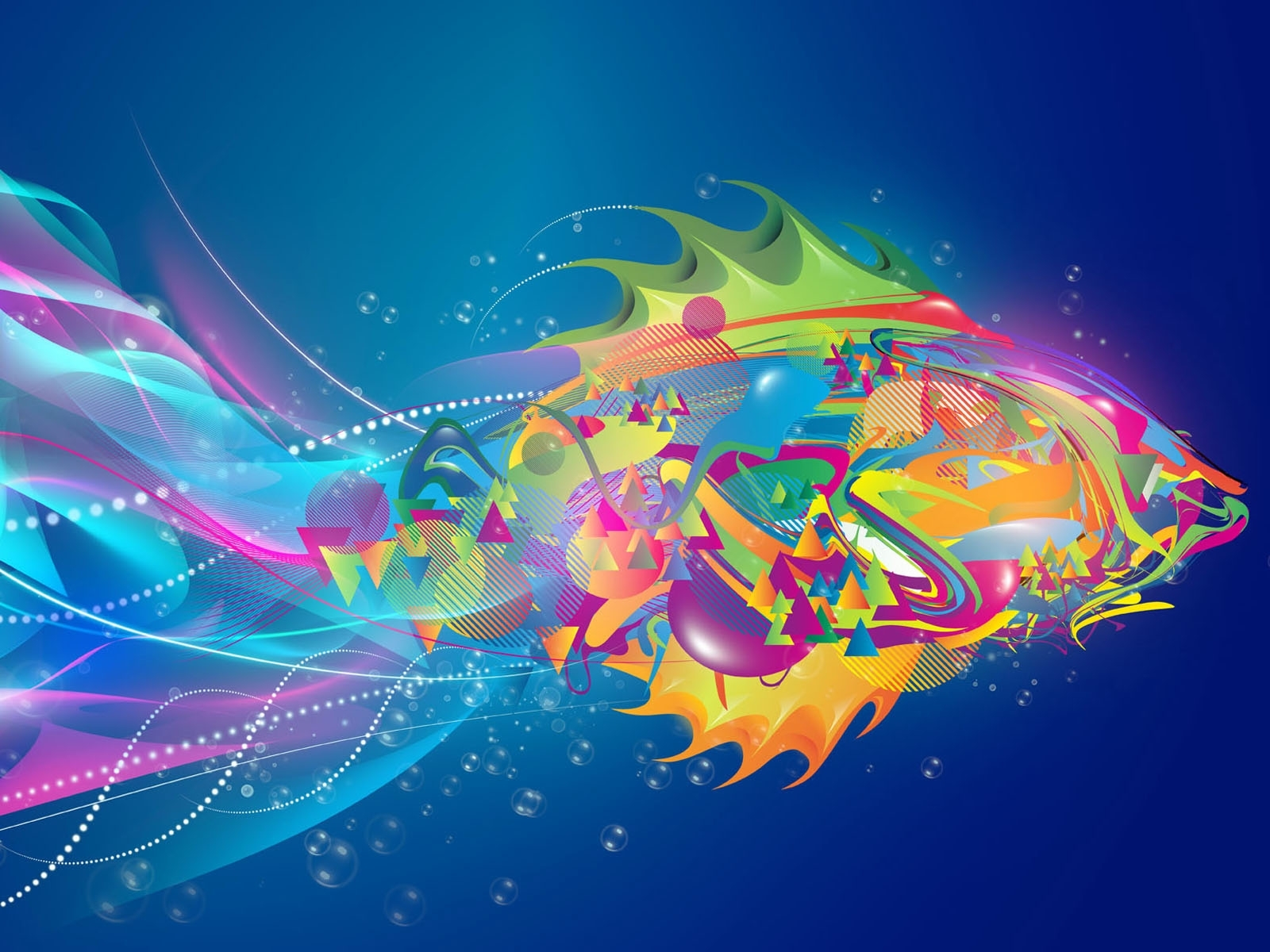 762 download wallpaper Abstract, Art, Fishes screensavers and pictures for free