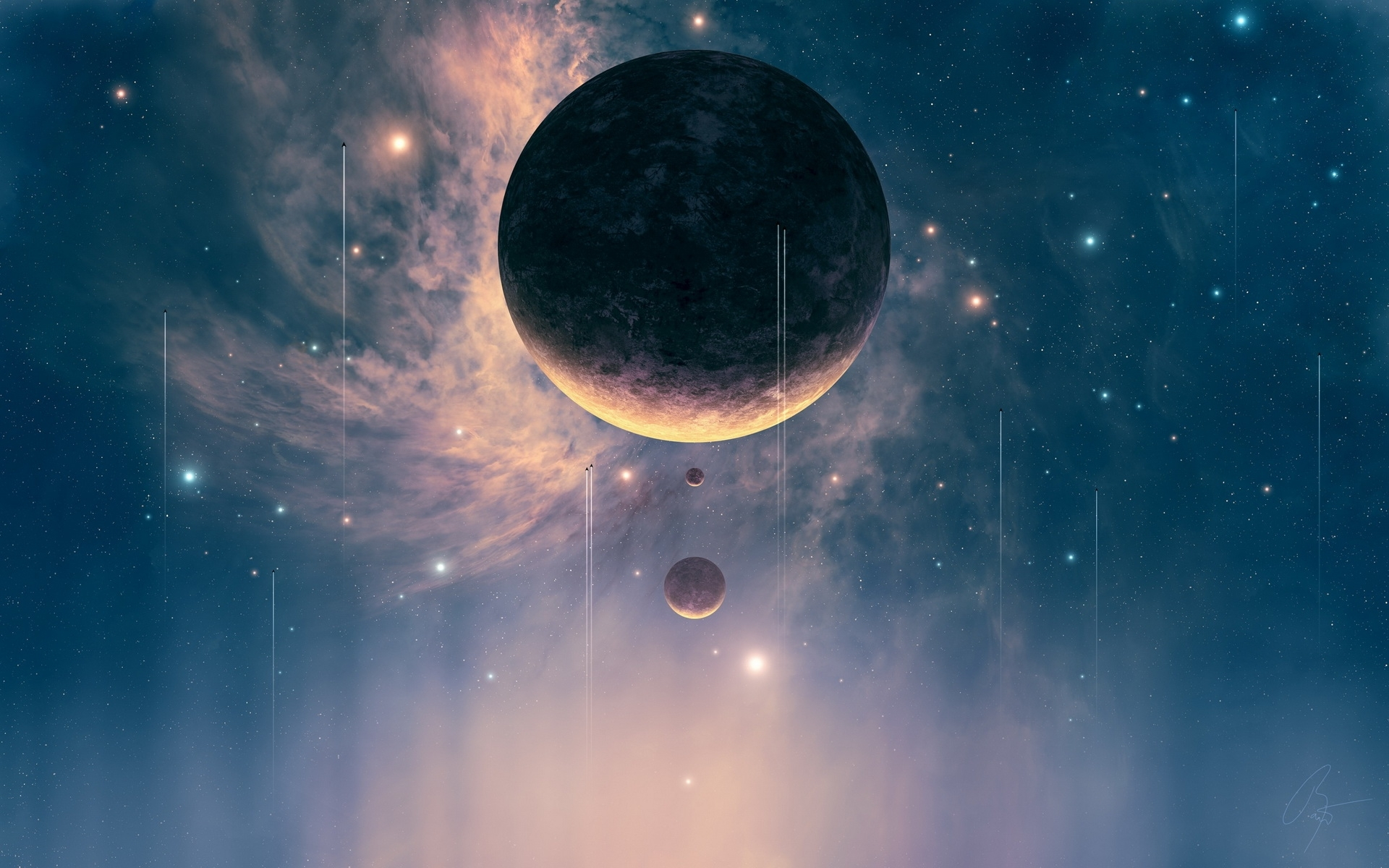 42543 download wallpaper Fantasy, Planets, Pictures screensavers and pictures for free