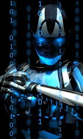 100778 baixar papel de parede Fantasia, Cyborg, Ciborgue, Robô, Números - protetores de tela e imagens gratuitamente