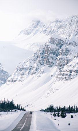 155625 télécharger le fond d'écran Nature, Route, Montagne, Pente, Neige, Hiver - économiseurs d'écran et images gratuitement