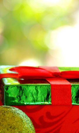 69263 скачать обои Праздники, Новый Год, Праздник, Подарок, Коробка, Блеск - заставки и картинки бесплатно