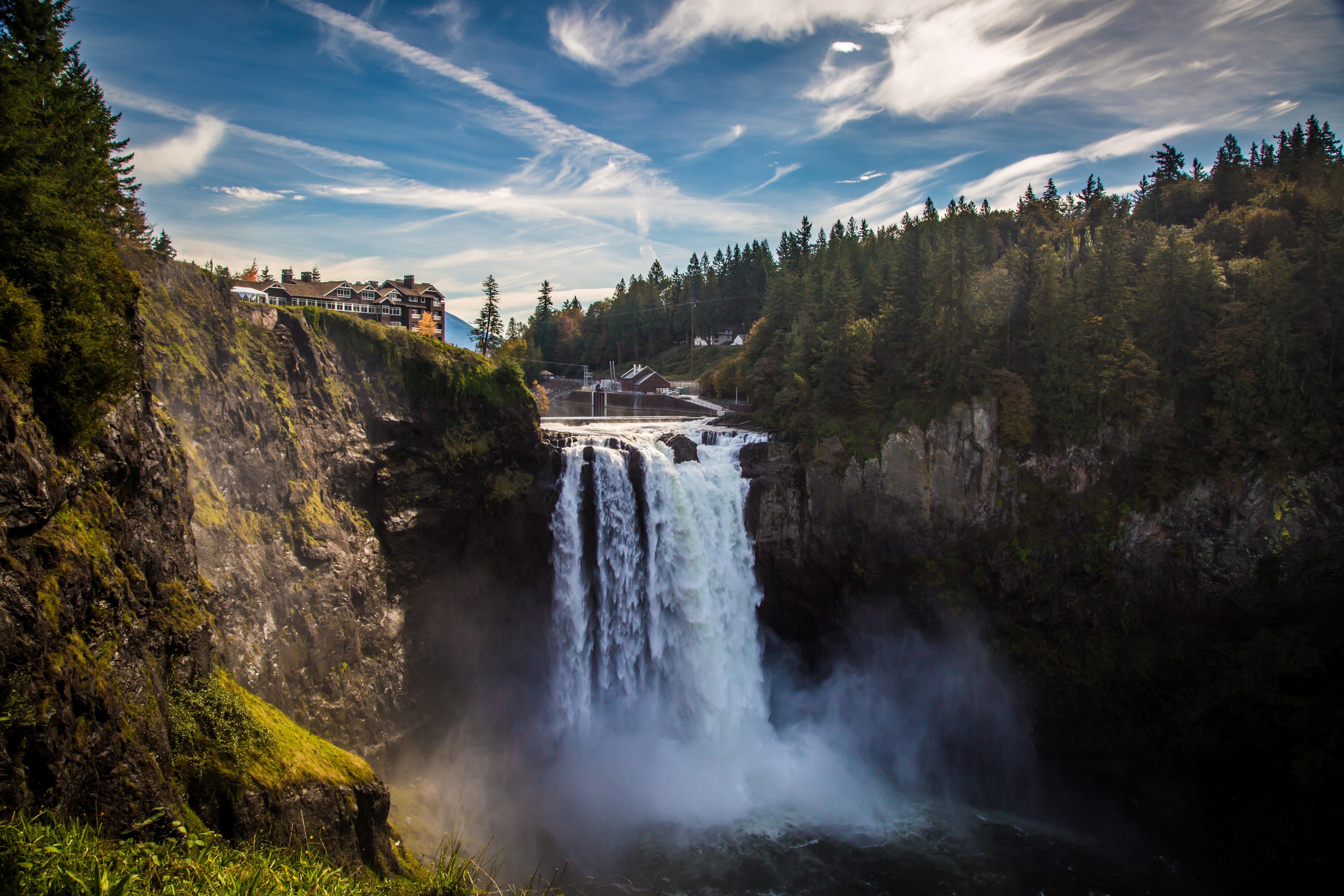 131725壁紙のダウンロード自然, 滝, ブレーク, 崖, 水, 噴射, スプレー, 風景-スクリーンセーバーと写真を無料で