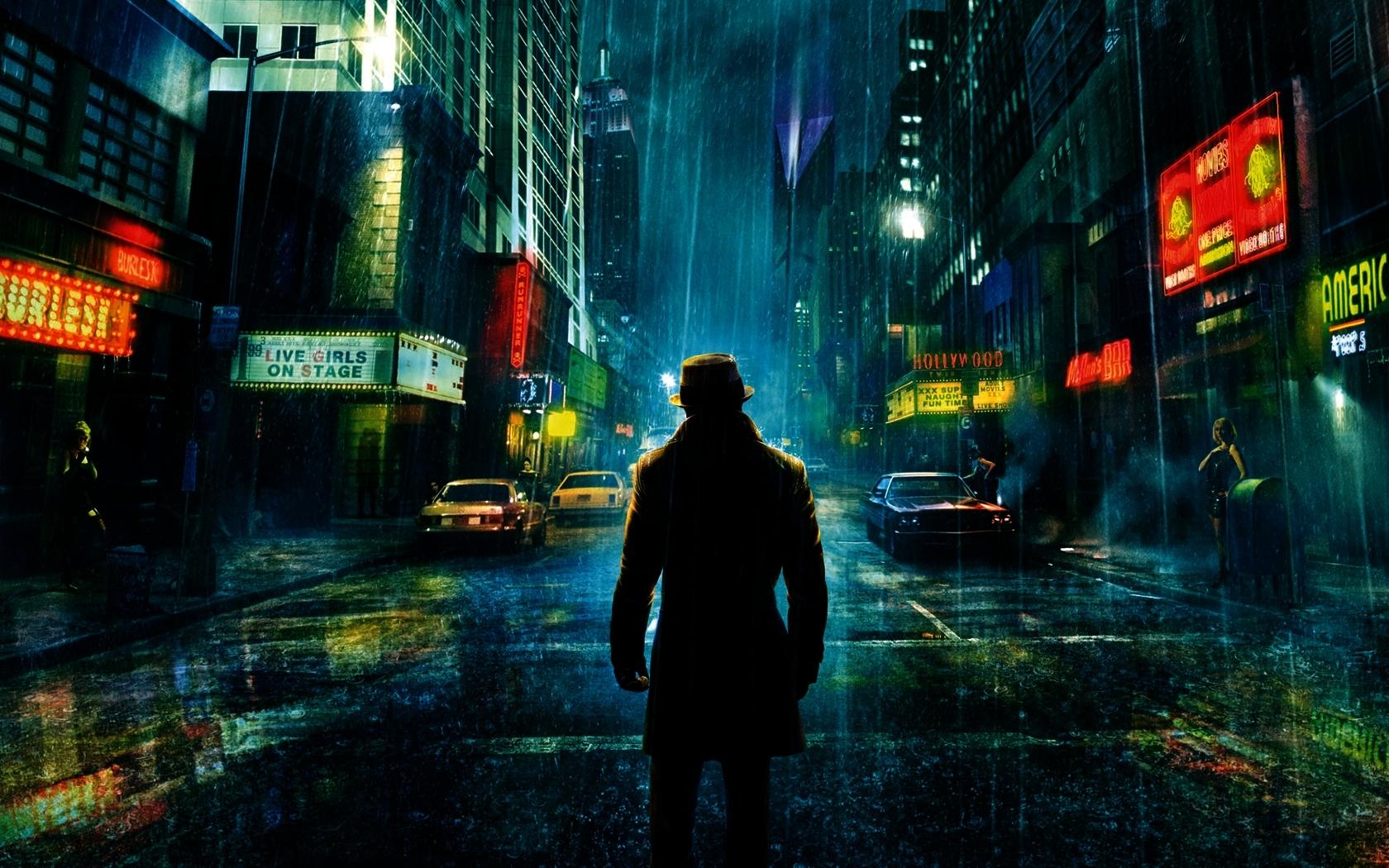 5729 скачать обои Кино, Пейзаж, Города, Ночь, Хранители (Watchmen) - заставки и картинки бесплатно