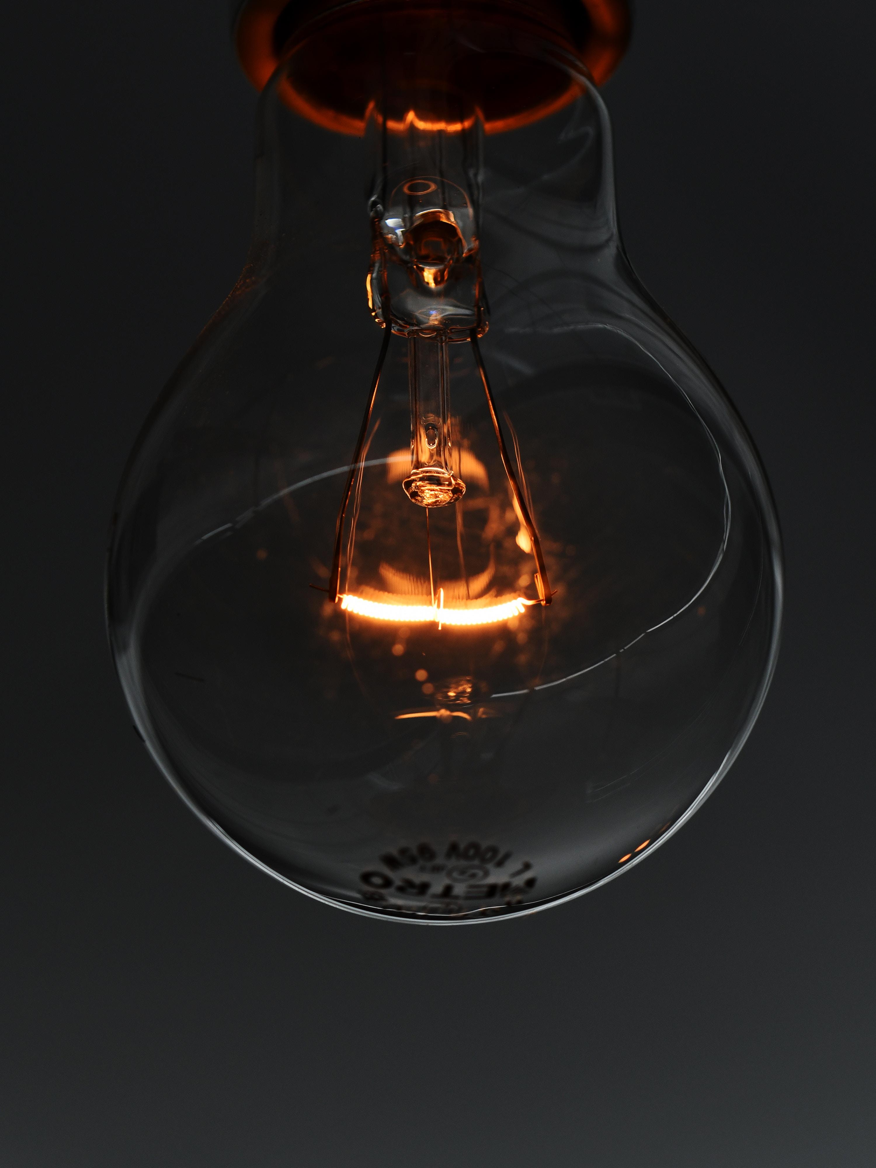 68617 скачать обои Свечение, Макро, Электричество, Лампочка, Крупный План - заставки и картинки бесплатно