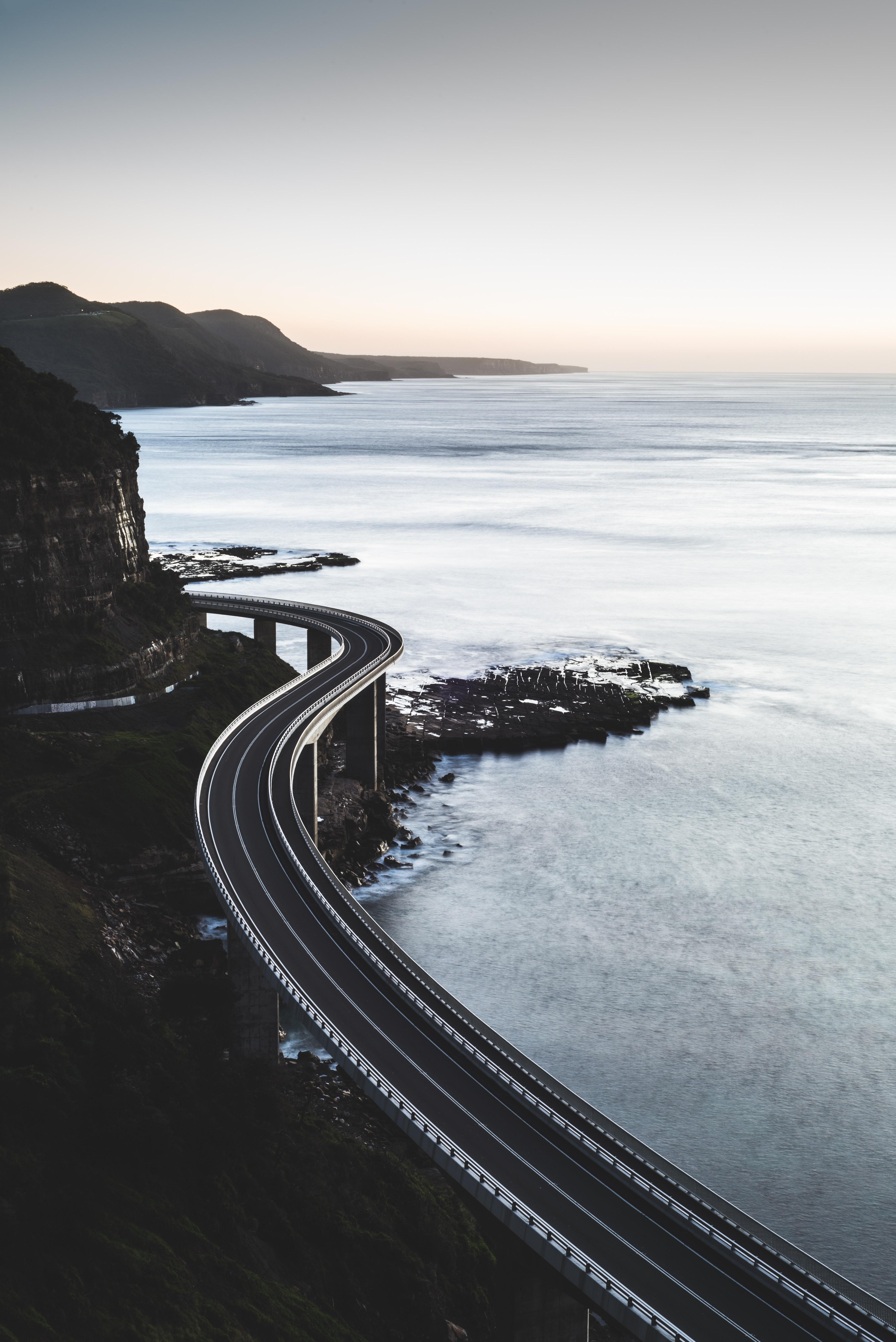 76153 Заставки и Обои Дорога на телефон. Скачать Дорога, Природа, Море, Мост, Австралия, Клифтон картинки бесплатно