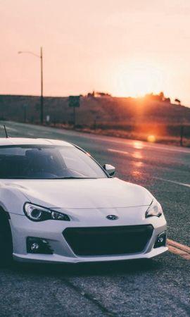 130953 baixar papel de parede Automóveis, Pôr Do Sol, Subaru, Carros, Subaru Brz - protetores de tela e imagens gratuitamente