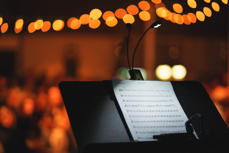 113184 Hintergrundbild herunterladen Musik, Blendung, Scheinen, Licht, Bokeh, Boquet, Anmerkungen - Bildschirmschoner und Bilder kostenlos
