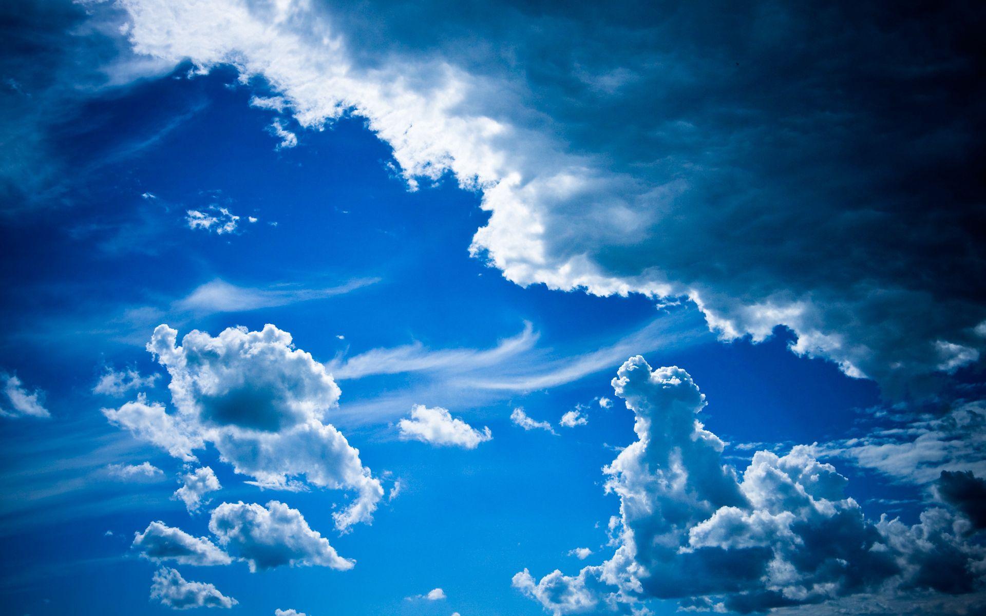 58676 скачать обои Узоры, Природа, Небо, Облака, Объем, Легкость, Голубое, Воздушные Массы - заставки и картинки бесплатно
