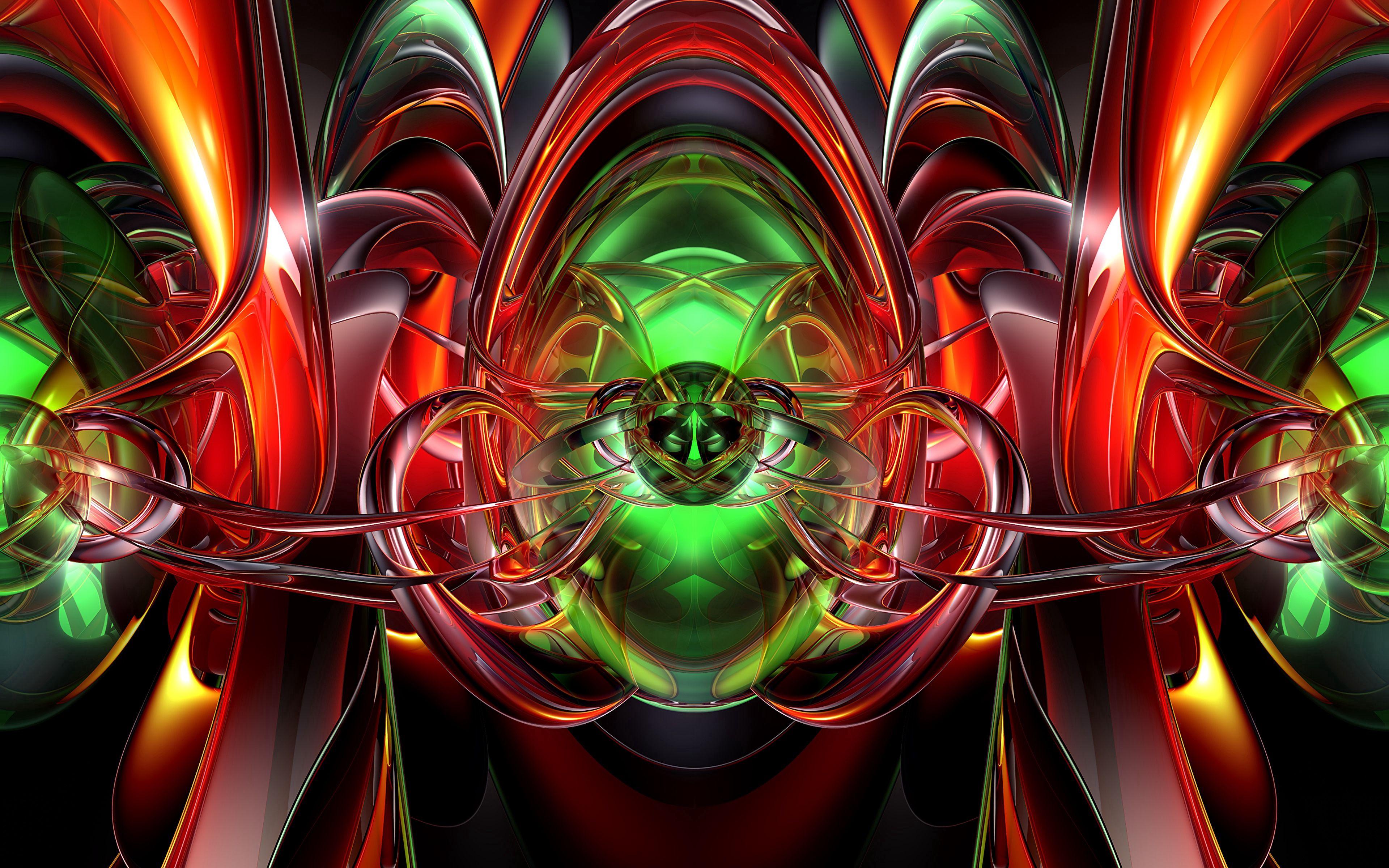 137583 Salvapantallas y fondos de pantalla 3D en tu teléfono. Descarga imágenes de Abstracción, Fractal, Multicolor, Abigarrado, Confundido, Intrincado, 3D gratis