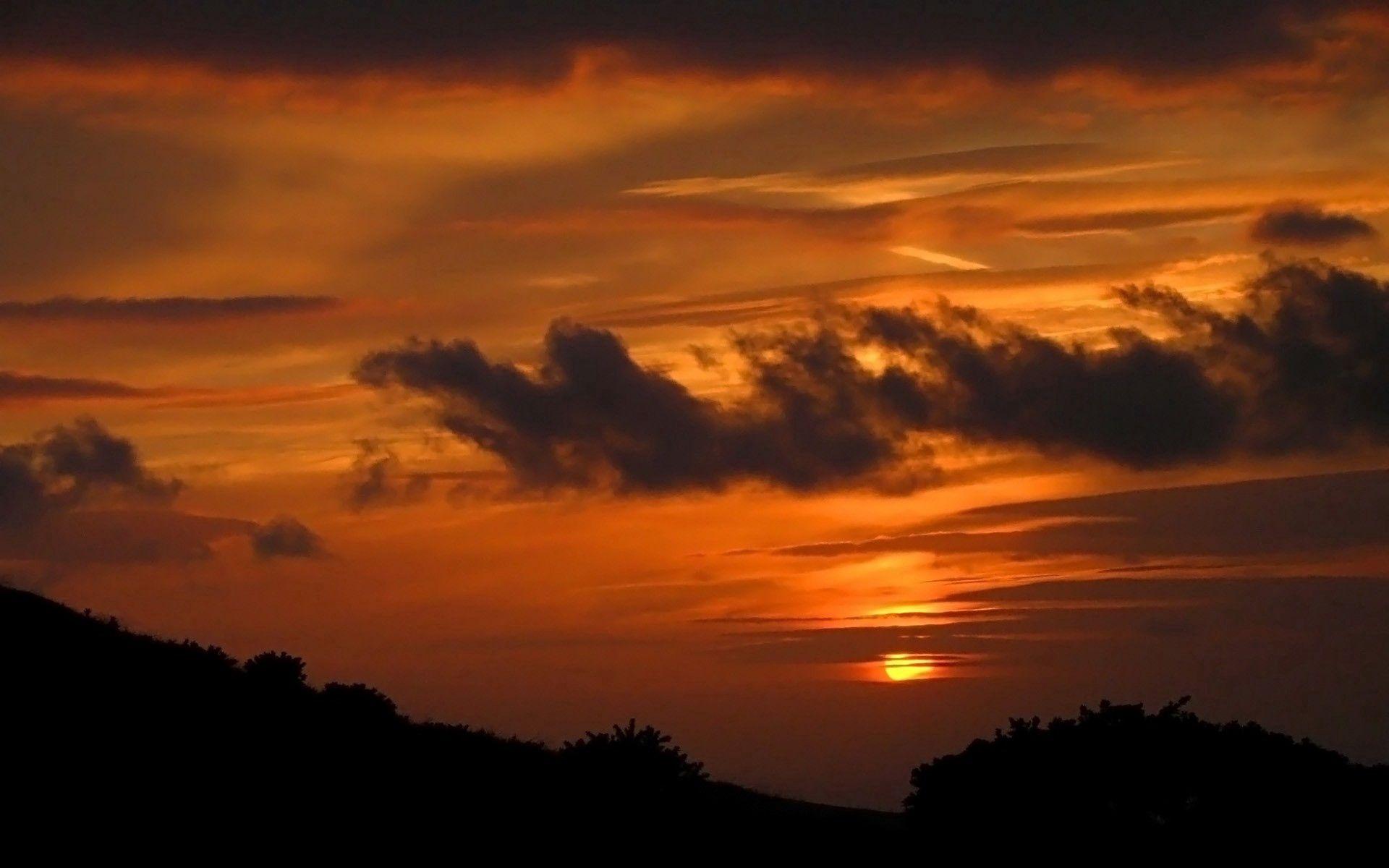 151074 скачать обои Природа, Облака, Сумерки, Вечер, Горизонт, Солнце - заставки и картинки бесплатно