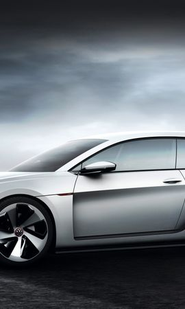 124317 Screensavers and Wallpapers Volkswagen for phone. Download Cars, Volkswagen, Golf, Design Vision, Concept, Grey, Gti pictures for free