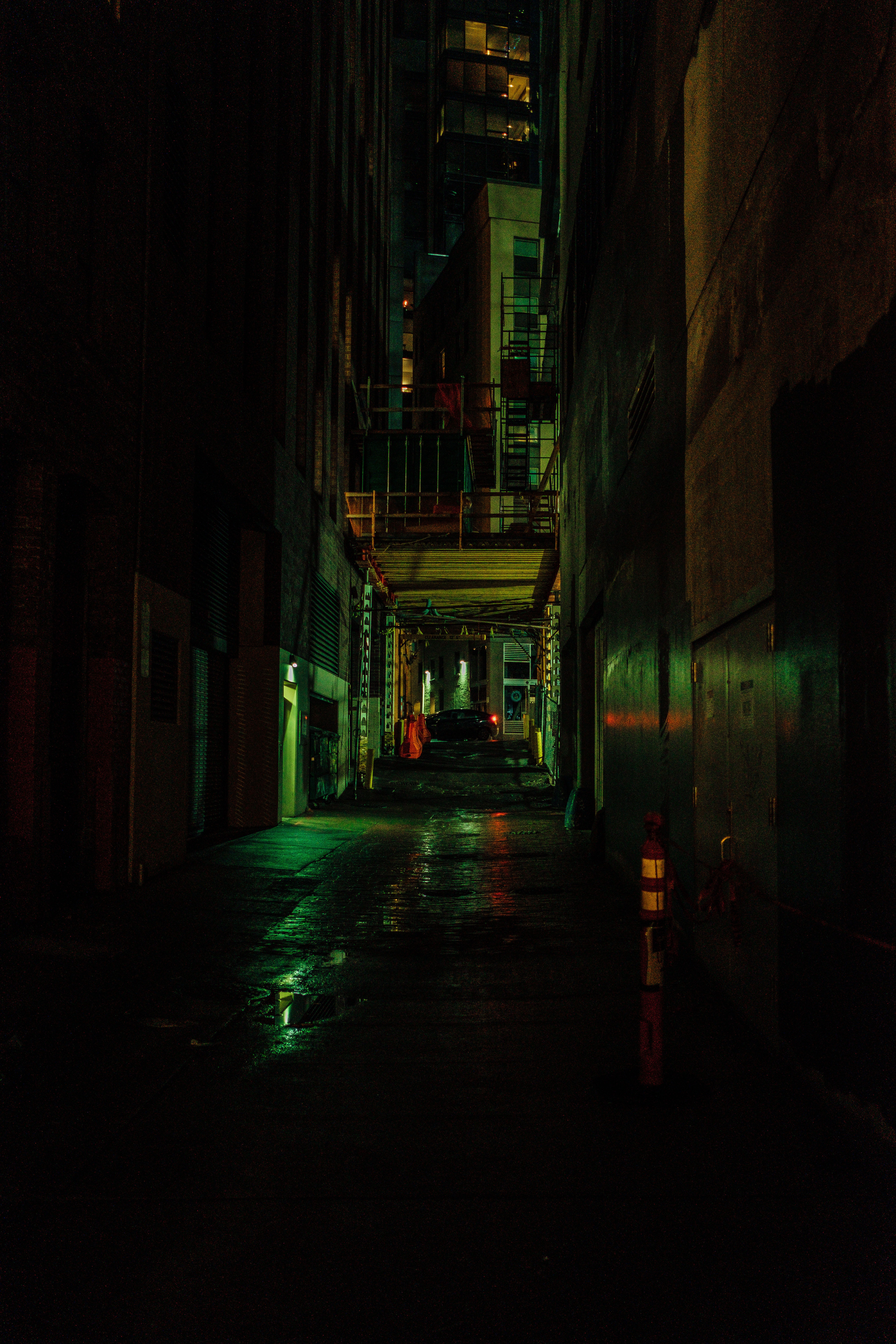 120488 Screensavers and Wallpapers Street for phone. Download Dark, Night, Building, Street, Lane pictures for free