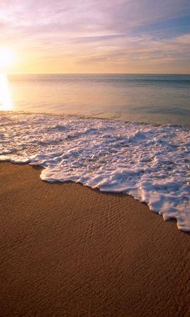 31398 скачать обои Пейзаж, Закат, Море, Пляж - заставки и картинки бесплатно