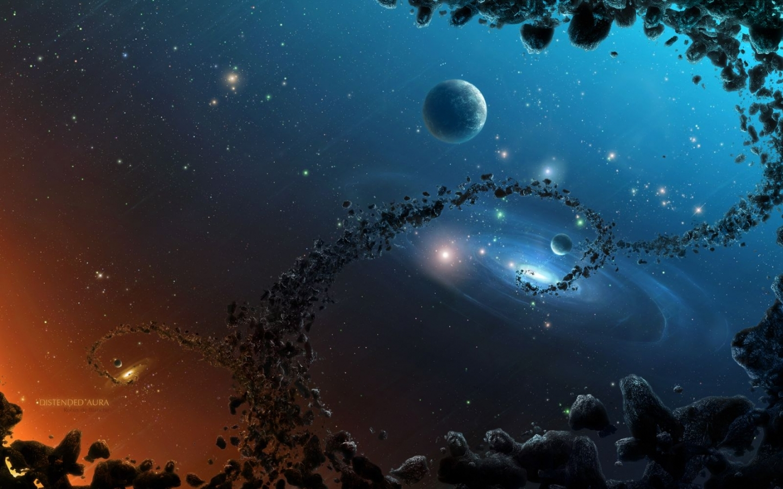1218 скачать обои Пейзаж, Арт, Планеты, Космос, Звезды - заставки и картинки бесплатно