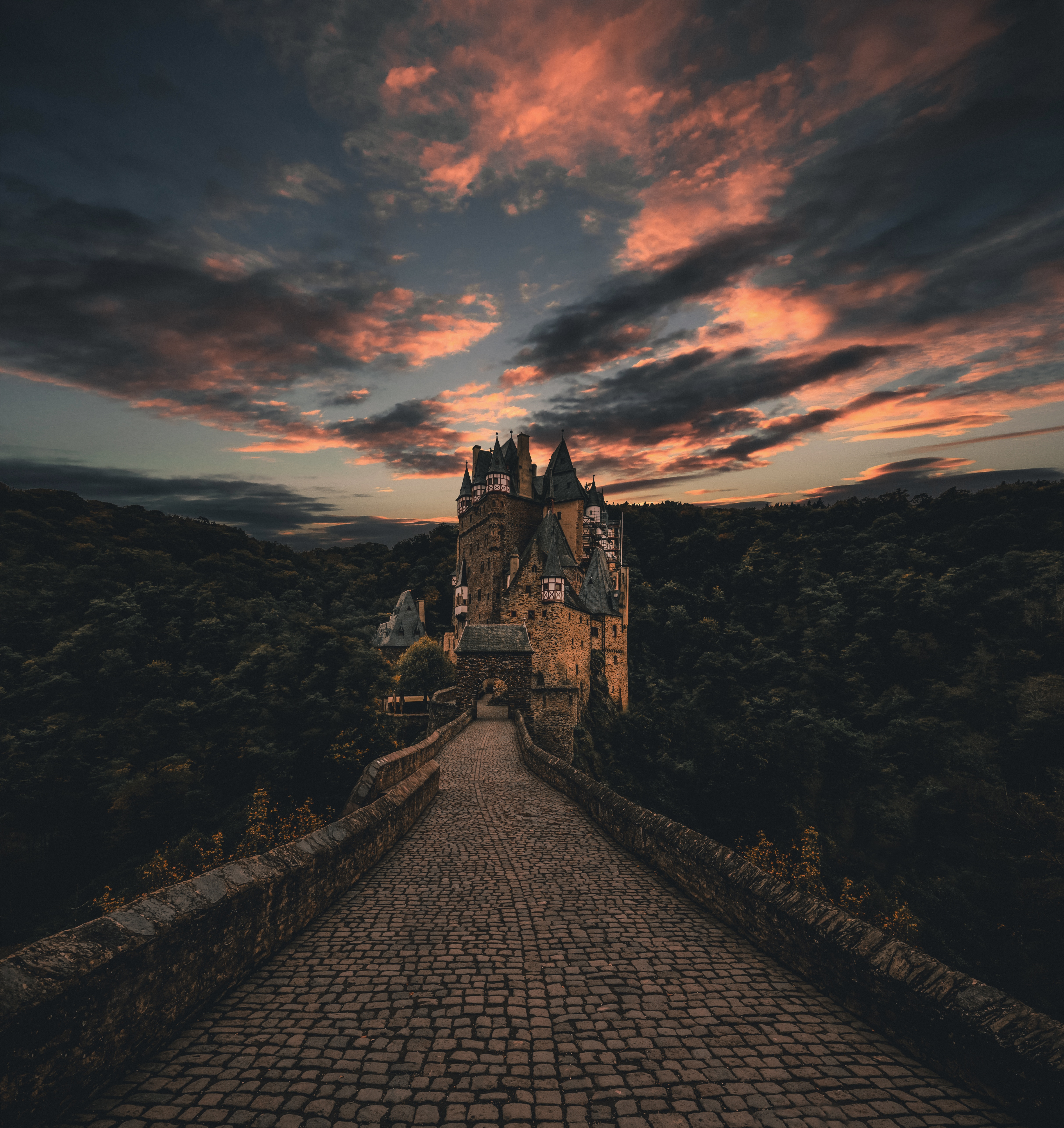 148084 Screensavers and Wallpapers Cities for phone. Download Sky, Cities, Lock, Path, Evening, Trail, Germany, Wirsham pictures for free
