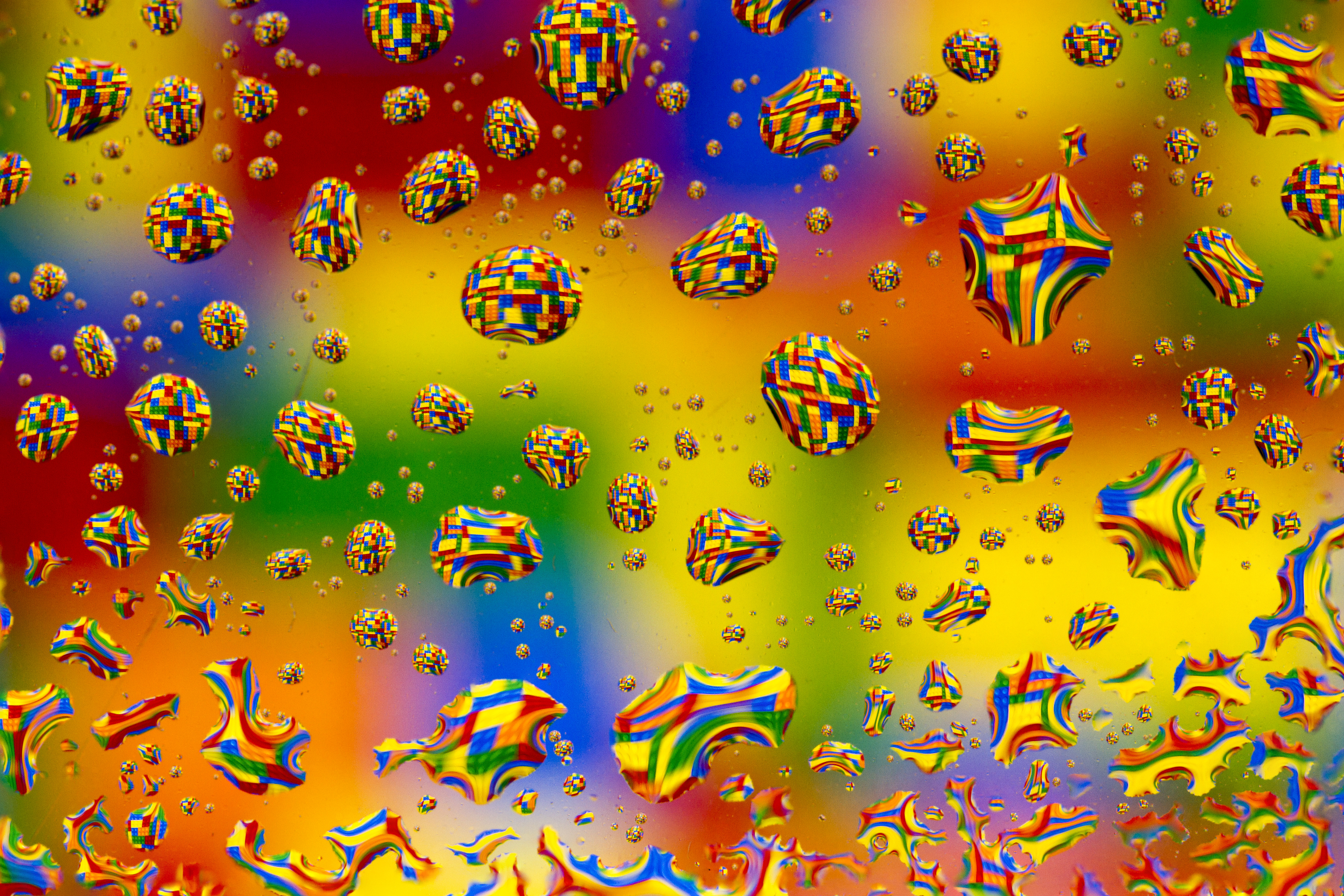 66203 download wallpaper Abstract, Drops, Multicolored, Motley, Distortion, Pixels, Bubbles screensavers and pictures for free