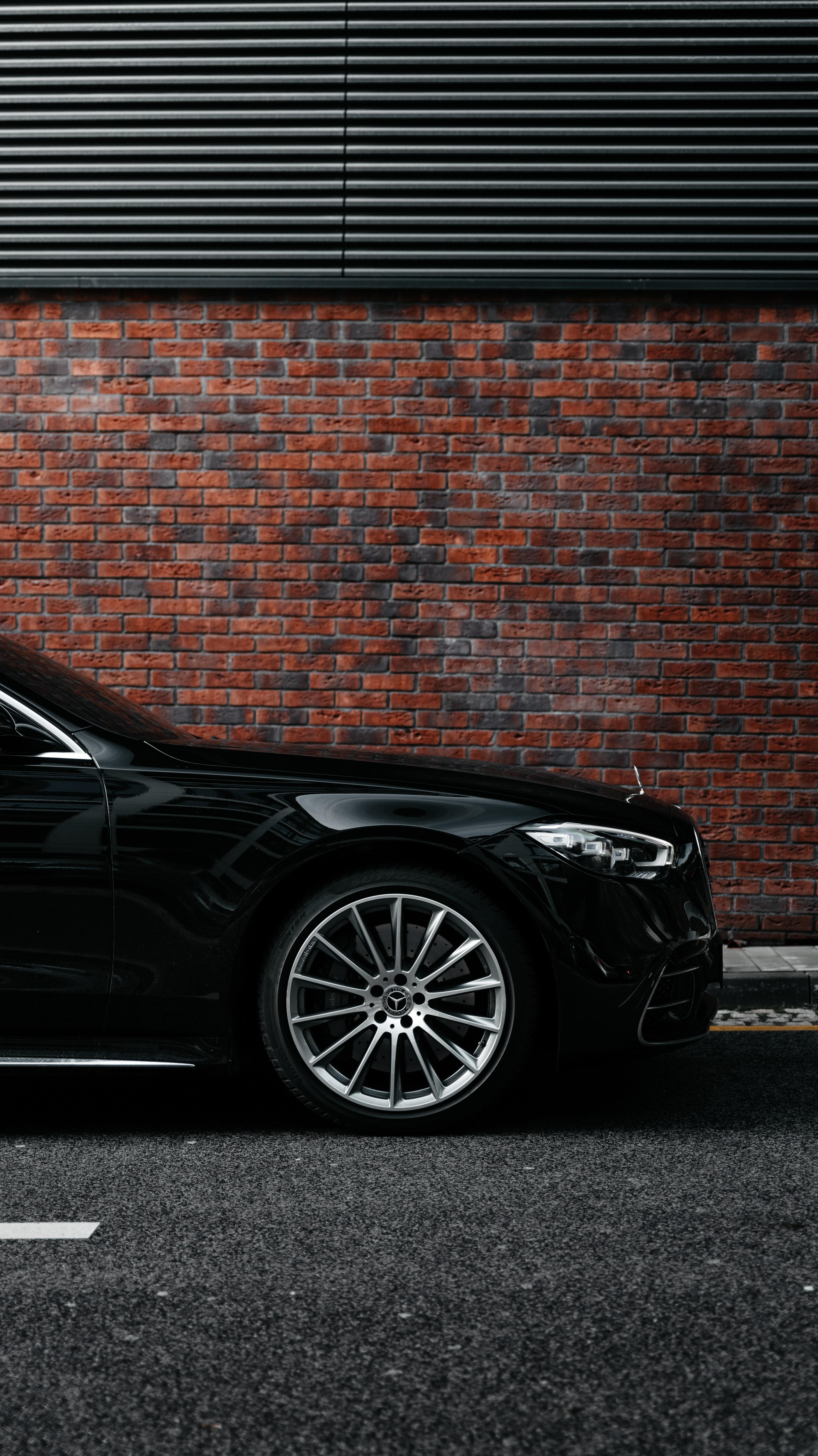 88512 Hintergrundbild herunterladen Auto, Mercedes, Cars, Wagen, Das Schwarze, Seitenansicht, Rad - Bildschirmschoner und Bilder kostenlos