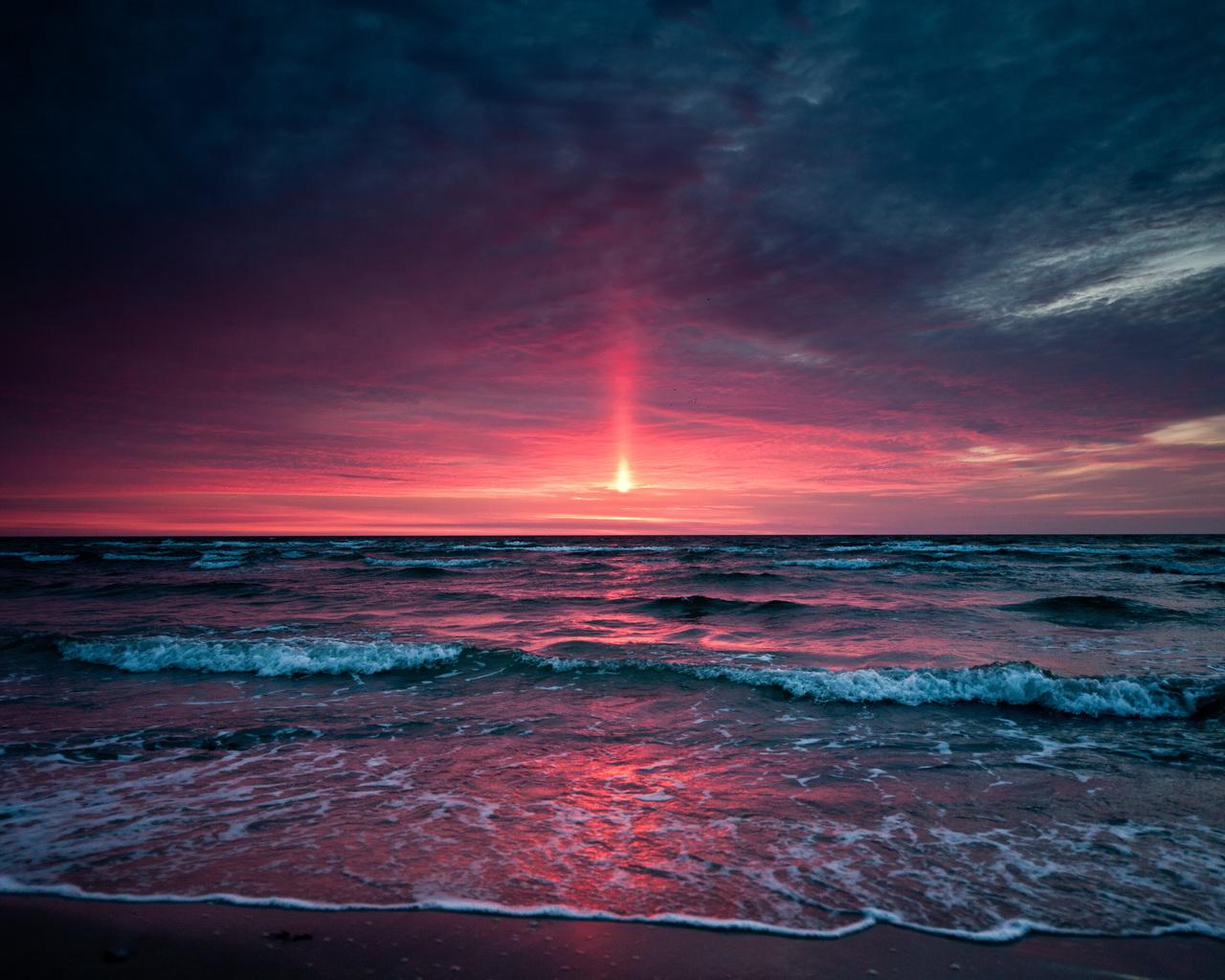 15865 скачать обои Пейзаж, Вода, Закат, Море, Солнце - заставки и картинки бесплатно