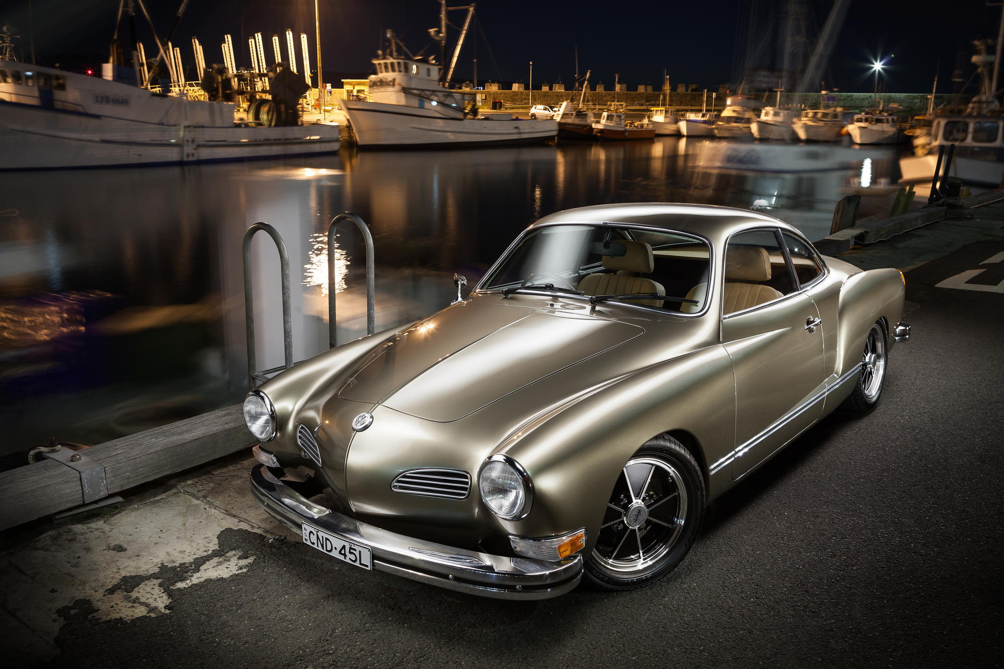 150865 Screensavers and Wallpapers Side View for phone. Download Cars, Volkswagen, Side View, Karmann Ghia, 1973 pictures for free