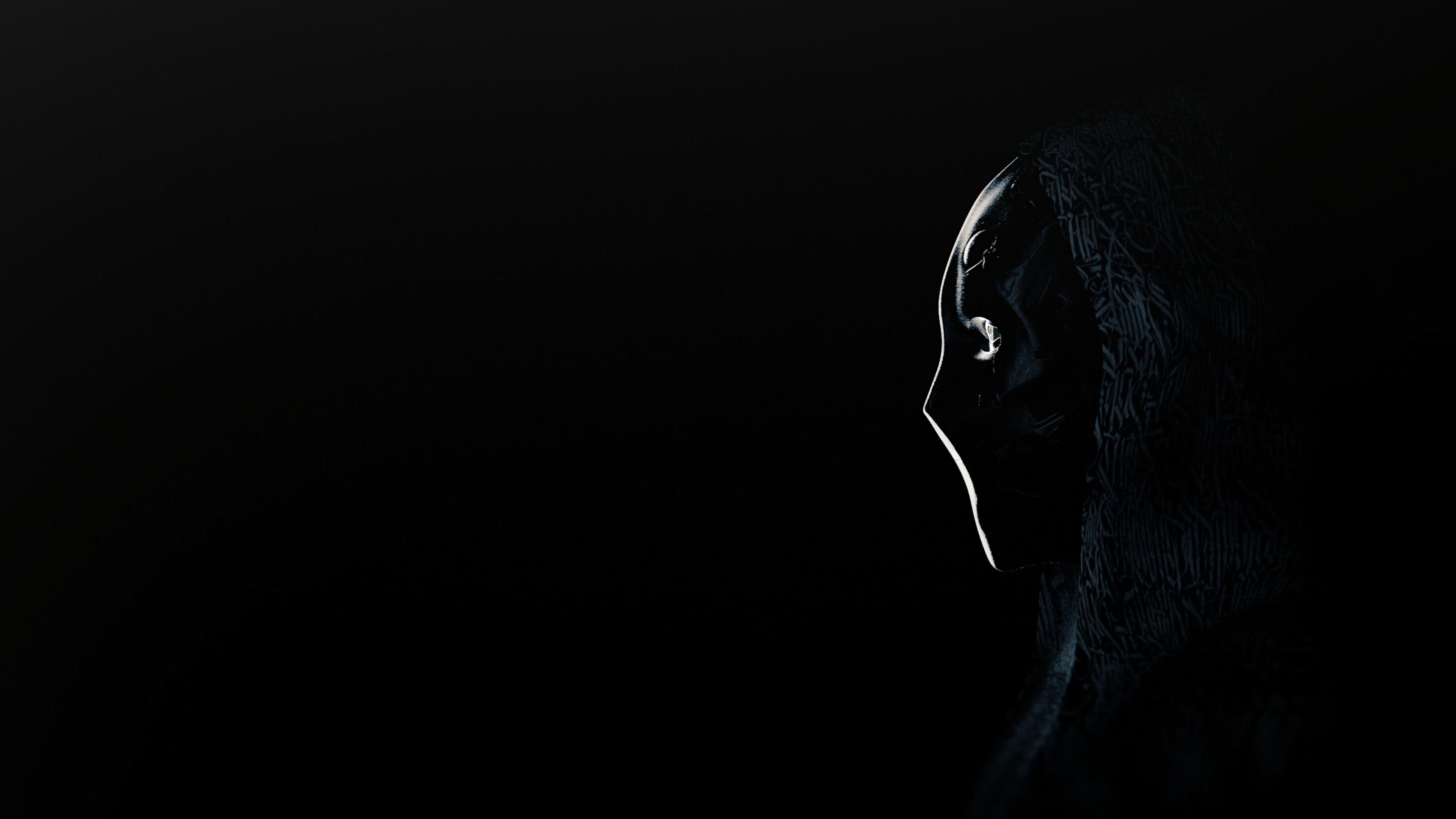 127263 téléchargez gratuitement des fonds d'écran Noir pour votre téléphone, des images Anonyme, Masquer, Masque, Profil, Sombre Noir et des économiseurs d'écran pour votre mobile