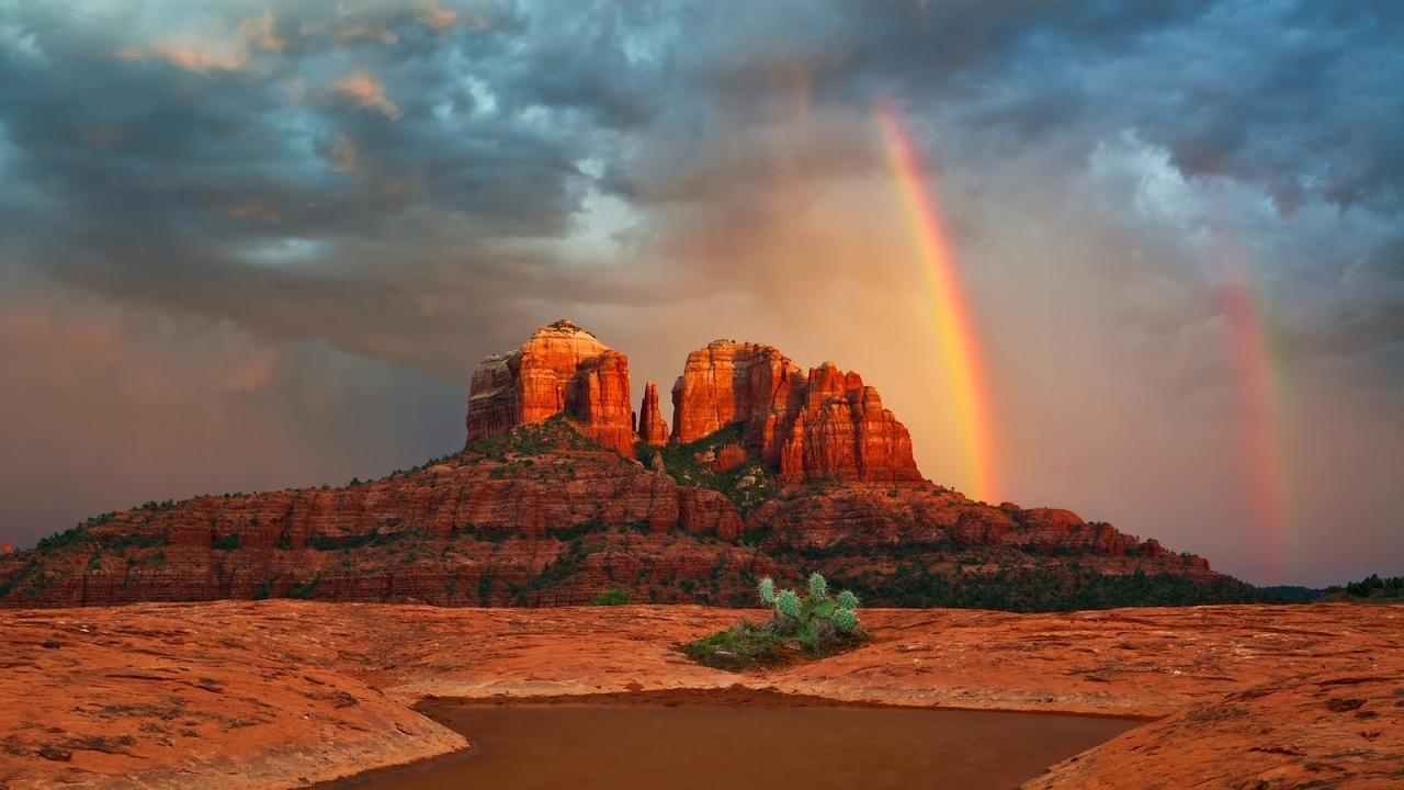 39449 免費下載壁紙 景观, 山, 彩虹 屏保和圖片