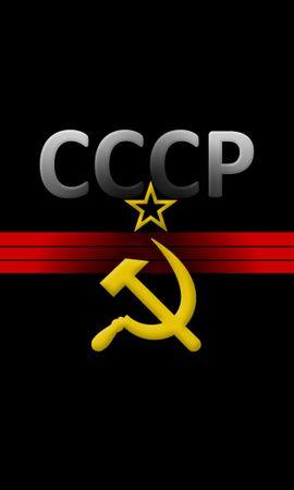 22092携帯電話用の黒壁紙を無料でダウンロード、背景, ロゴス, ソビエト連邦 黒写真と携帯電話用スクリーンセーバー