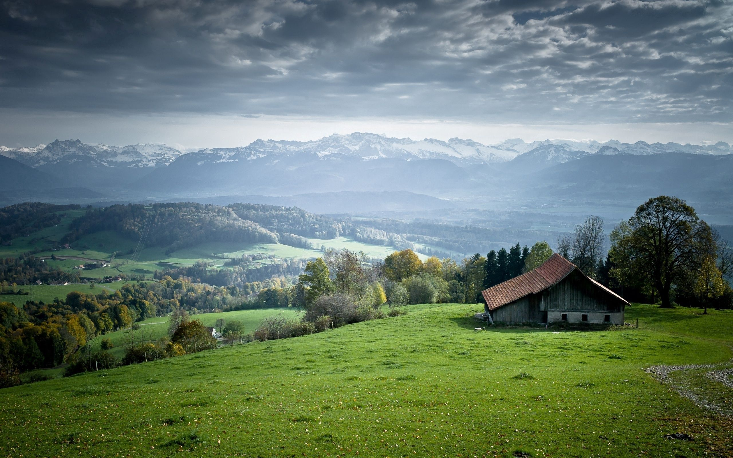 55857 Screensavers and Wallpapers Small House for phone. Download Landscape, Nature, Small House, Lodge, Plain, Open Spaces, Expanse, Serenity pictures for free