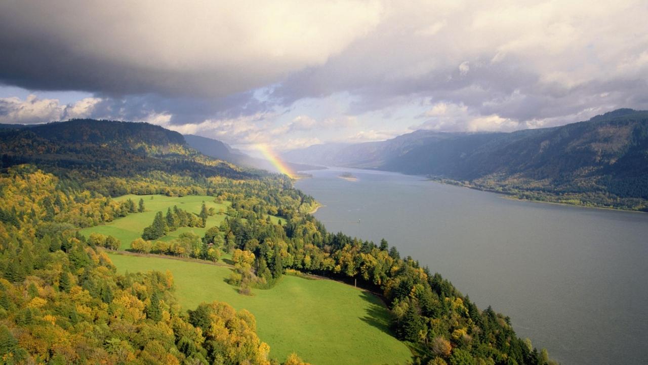 35699 免費下載壁紙 景观, 河, 彩虹 屏保和圖片
