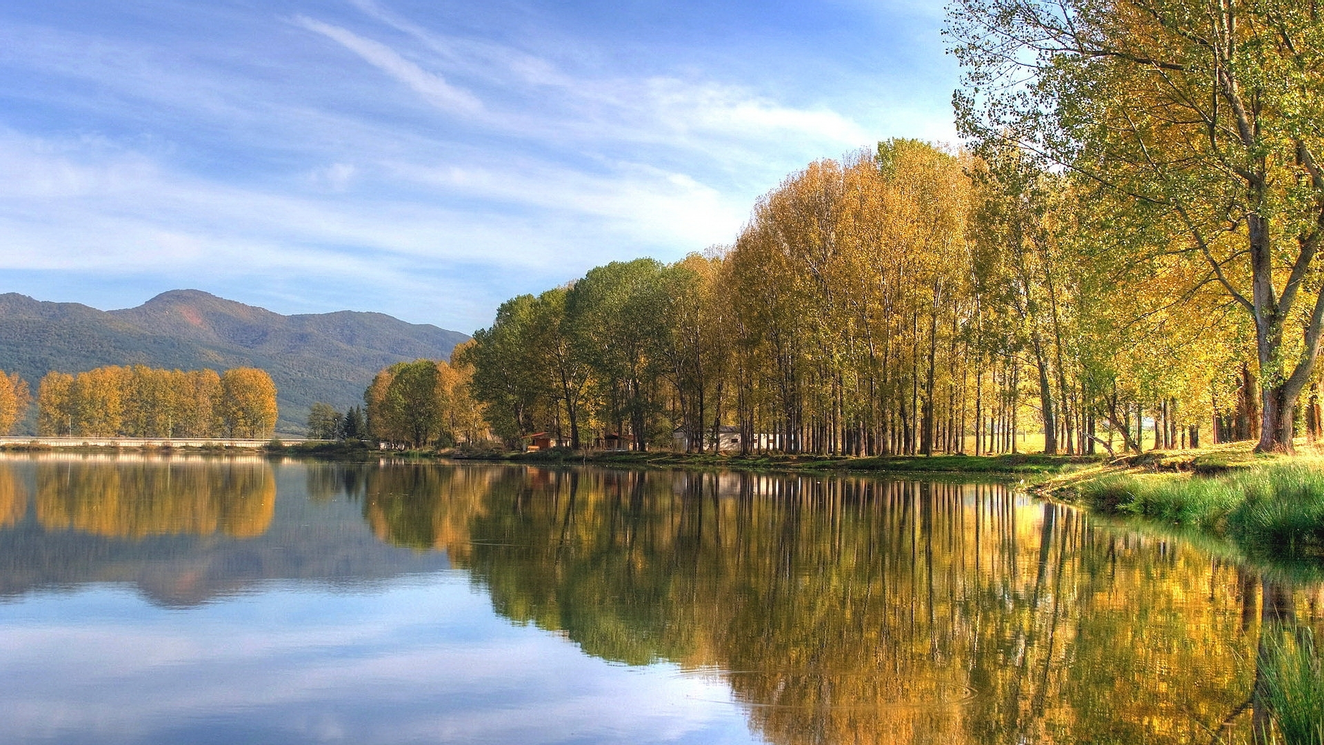 30162 download wallpaper Landscape, Autumn, Lakes screensavers and pictures for free