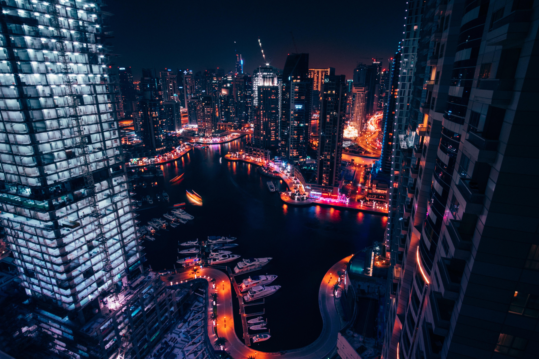 63345 Hintergrundbild 1024x768 kostenlos auf deinem Handy, lade Bilder Städte, Wolkenkratzer, Gebäude, Nächtliche Stadt, Night City 1024x768 auf dein Handy herunter