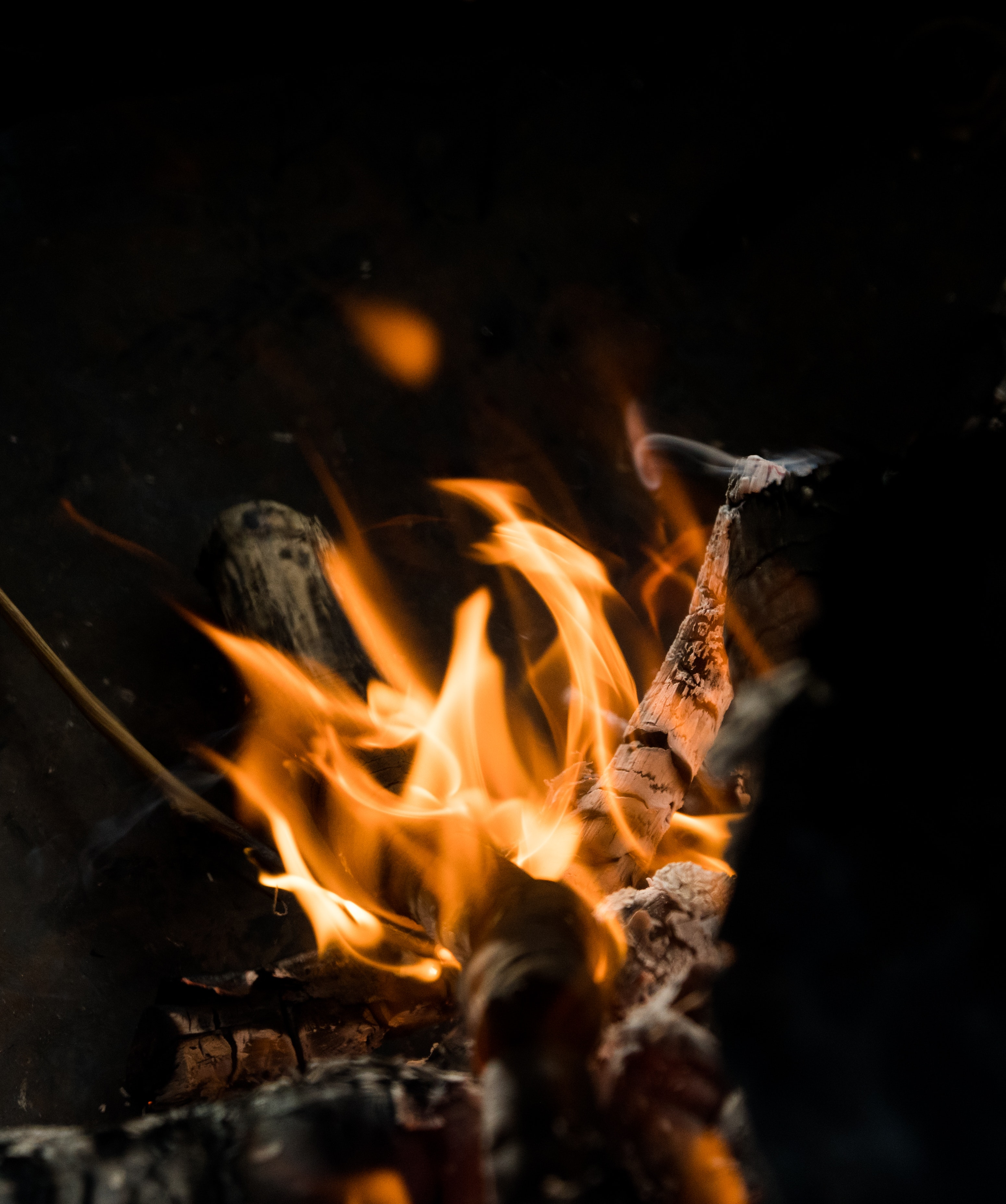 99573 Screensavers and Wallpapers Bonfire for phone. Download Fire, Bonfire, Coals, Dark, Flame, Firewood, Ash pictures for free