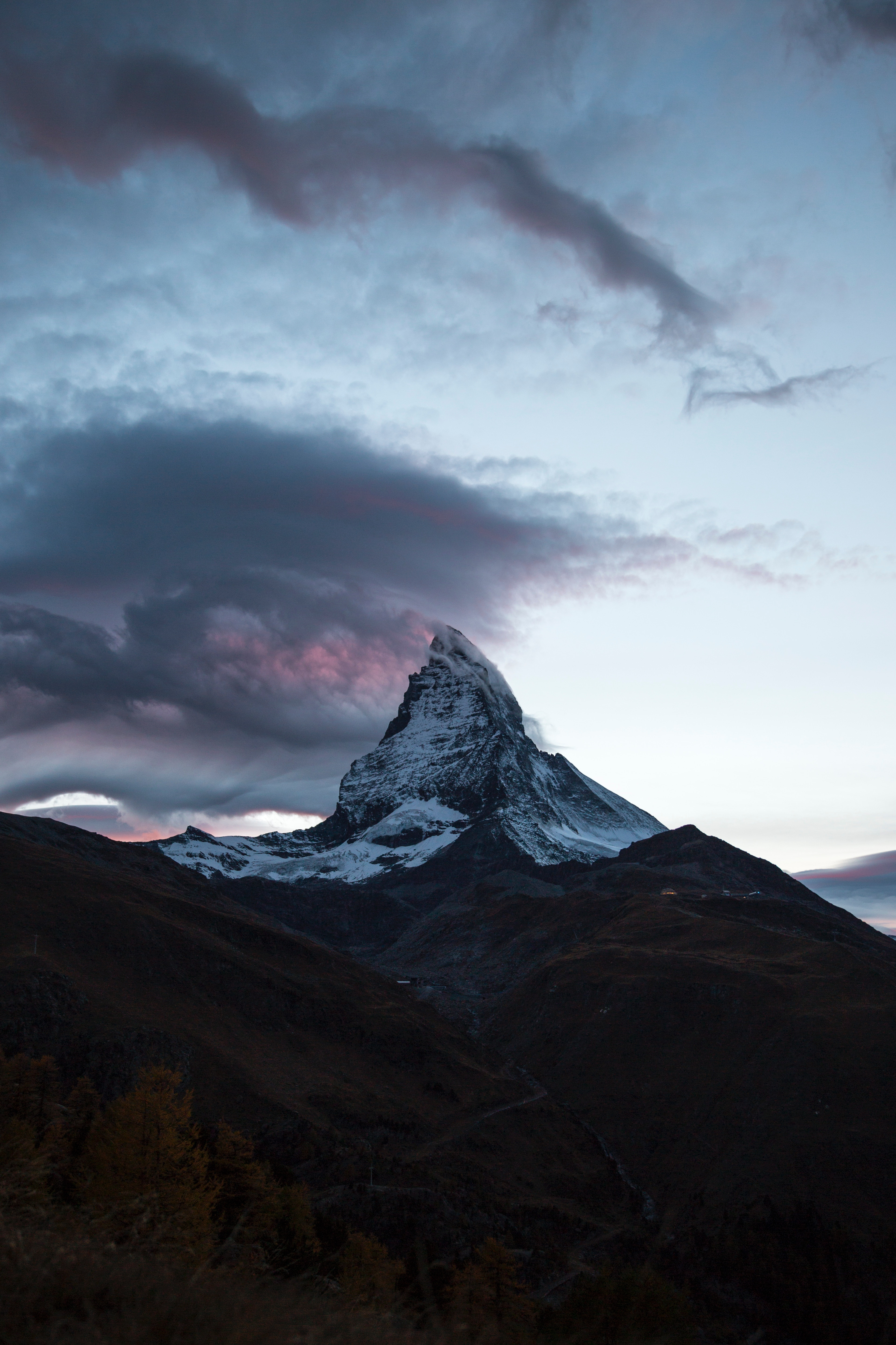 67074 download wallpaper Nature, Clouds, Mountain, Vertex, Top, Switzerland screensavers and pictures for free
