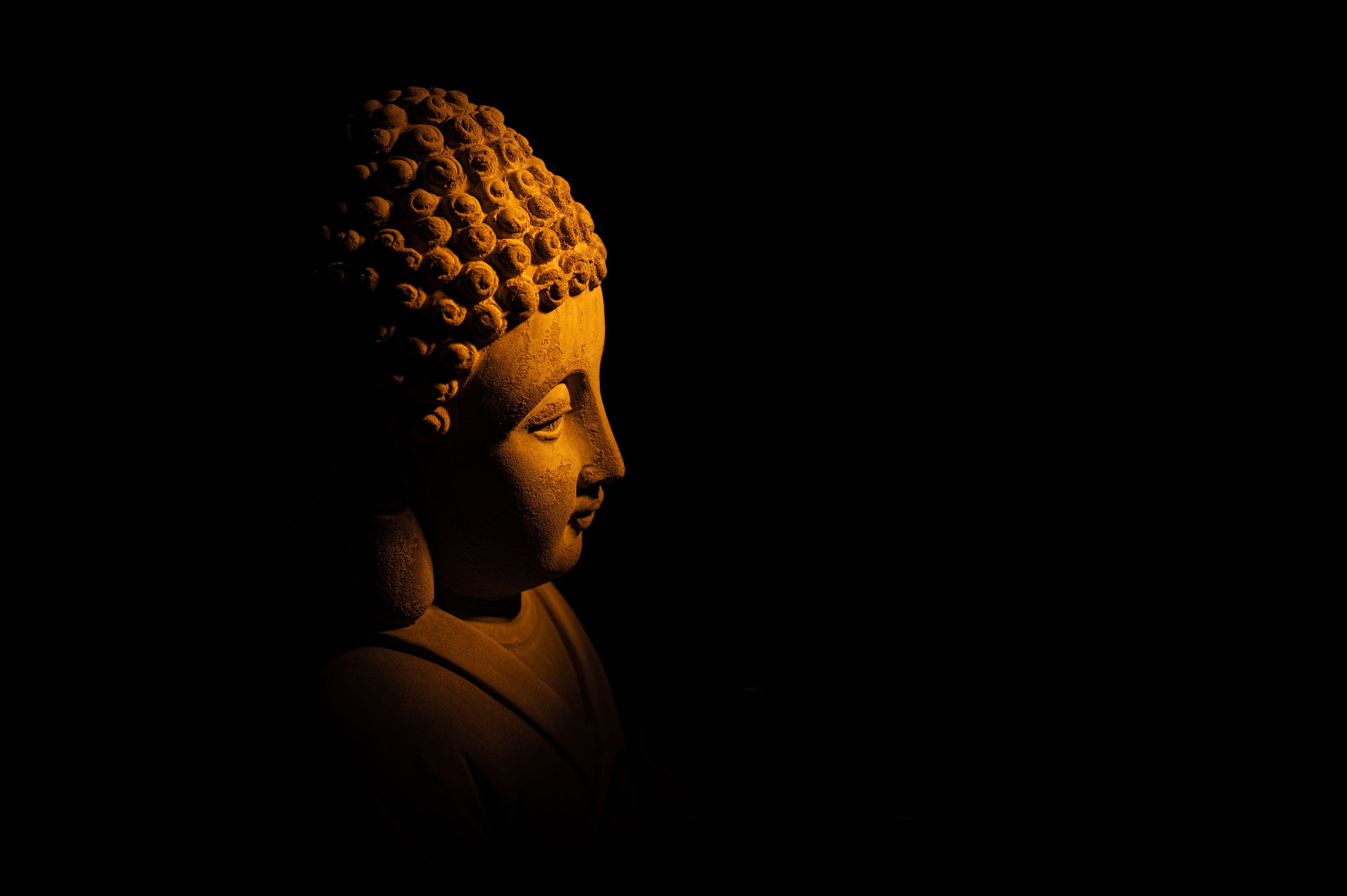 139290 Hintergrundbild 1024x600 kostenlos auf deinem Handy, lade Bilder Buddha, Dunkel, Eine Statue, Statue 1024x600 auf dein Handy herunter