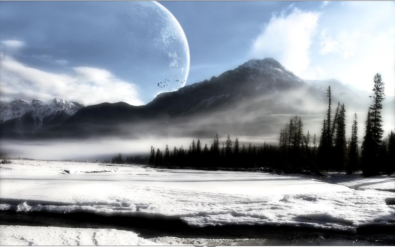 7048 скачать обои Пейзаж, Зима, Горы - заставки и картинки бесплатно